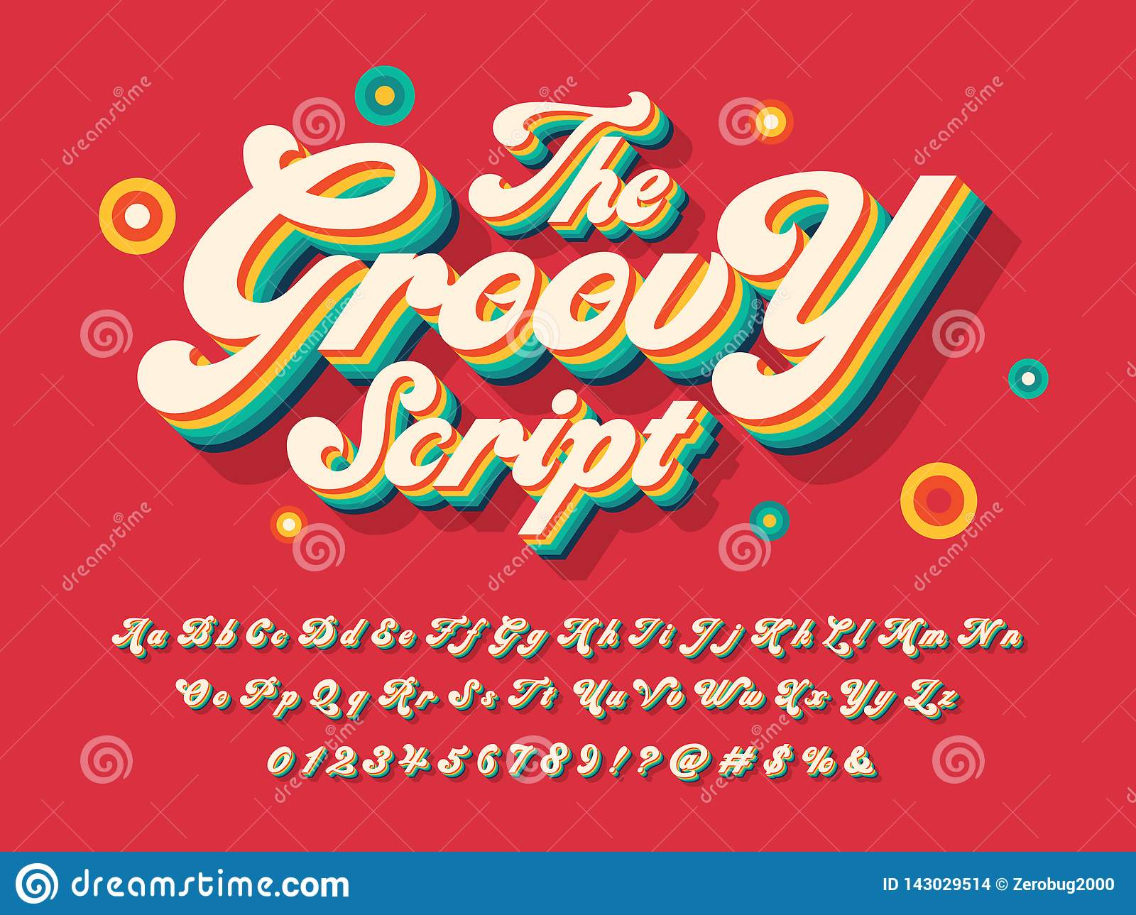 Groovy font stock vector  Illustration of graphic, design