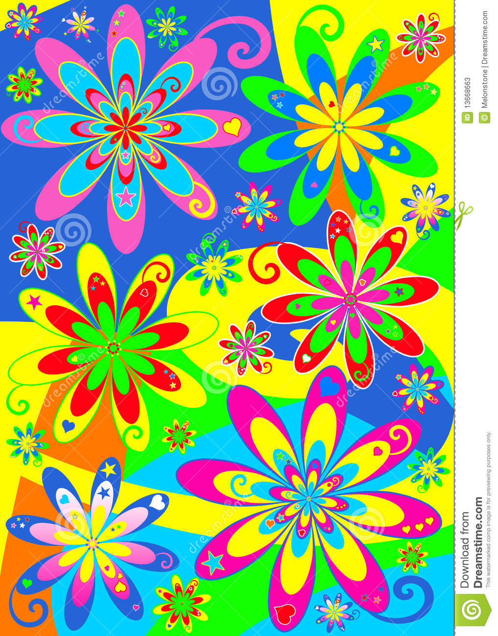 Displaying 16> Images For - Hippy Flower Patterns...