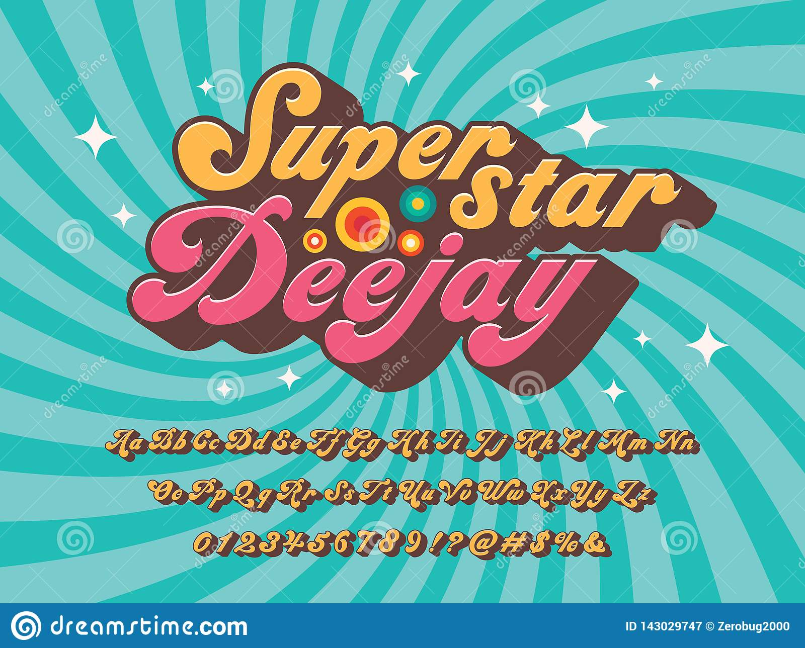 Groovy font stock vector  Illustration of design, typography
