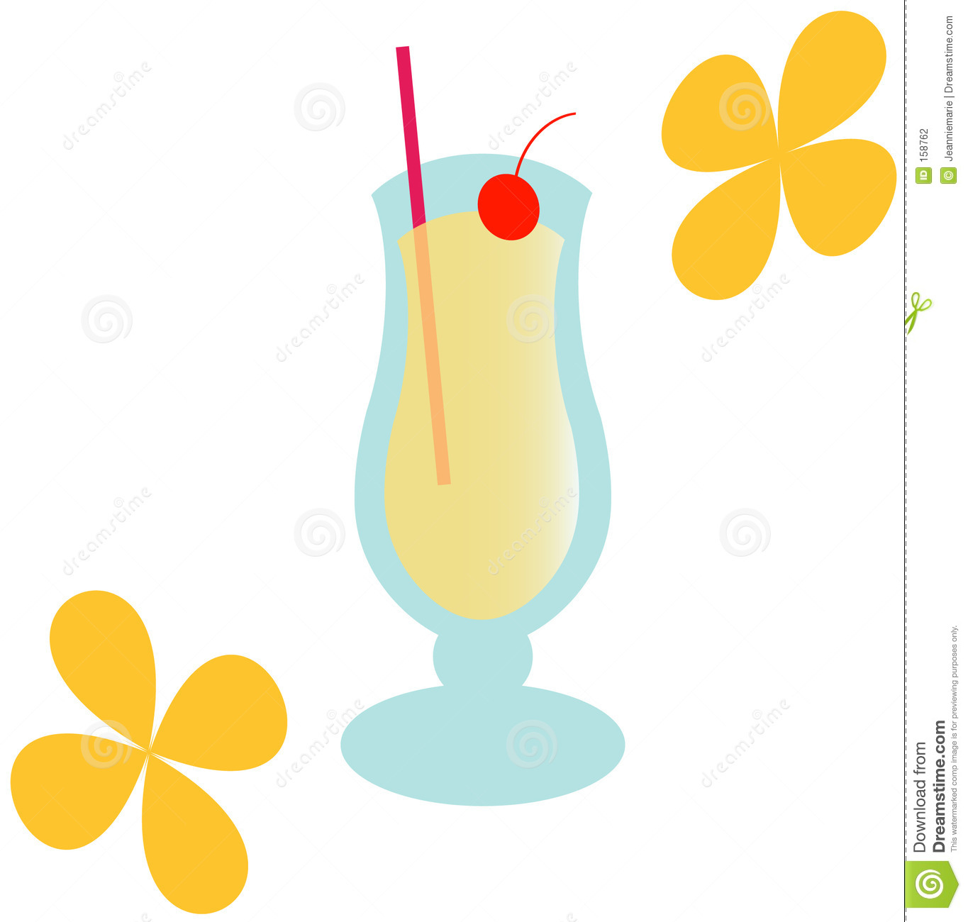 Groovy Pina Colada - Illustration