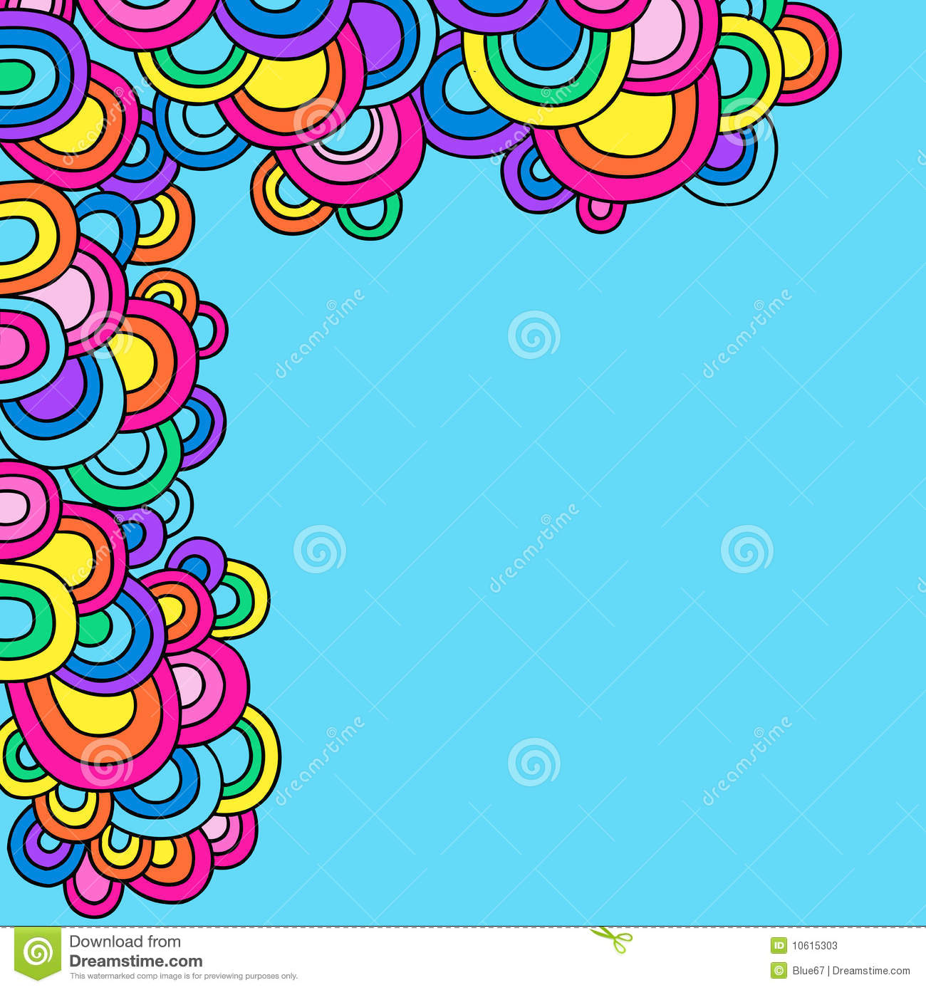 Groovy Psychedelic Doodle Circles Vector Stock Photos - Image ...