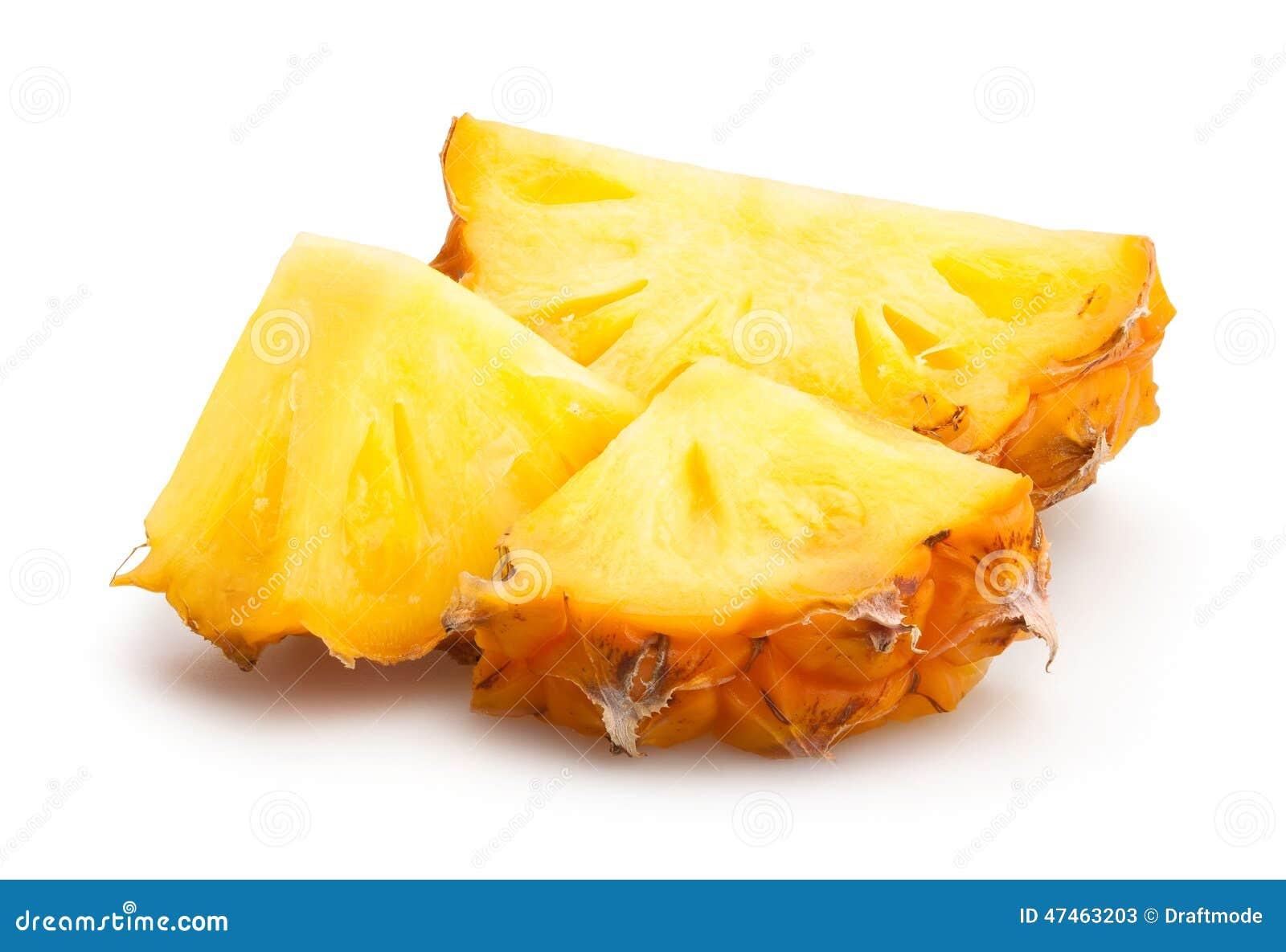 Gros morceaux d ananas