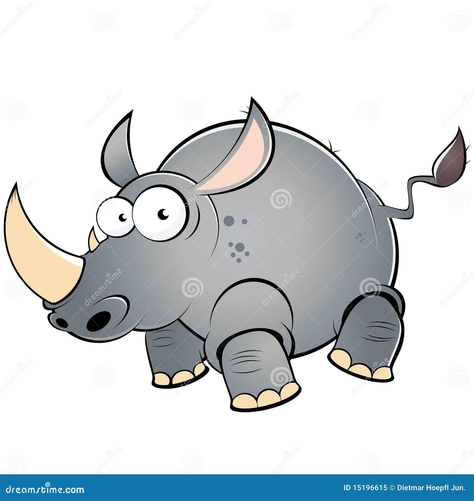 Gros rhinoc ros de dessin anim photo libre de droits - Rhinoceros dessin ...