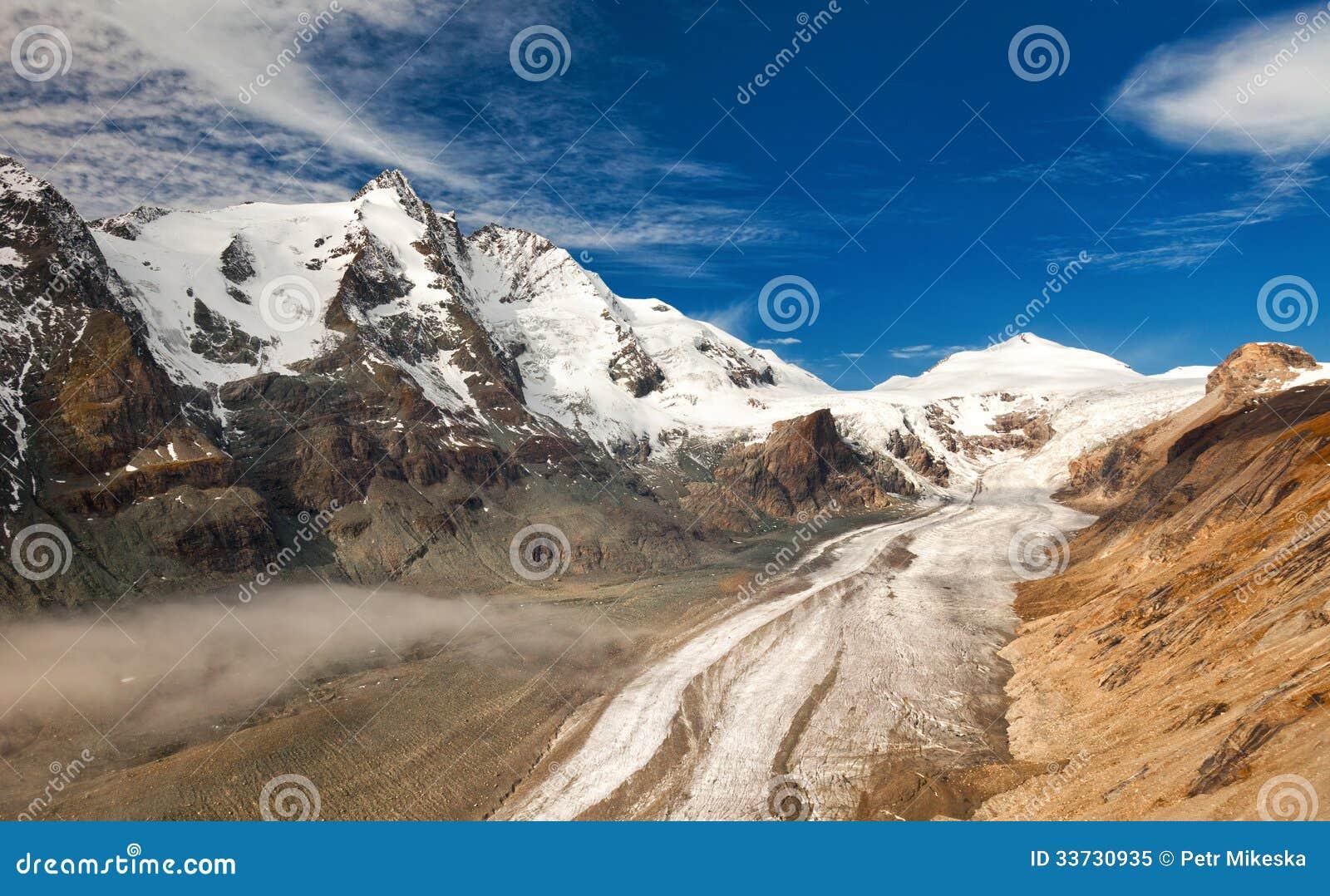 Grossglockner в Австралии - взгляде гор и ледника