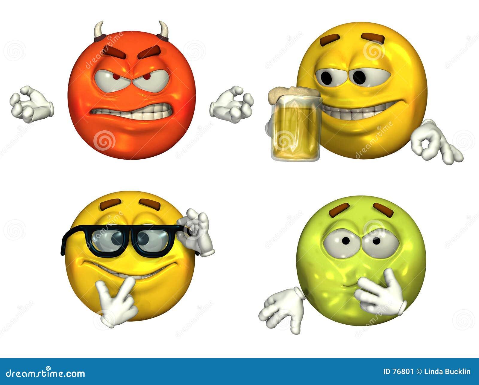 Grote 3D Emoticons - reeks 3