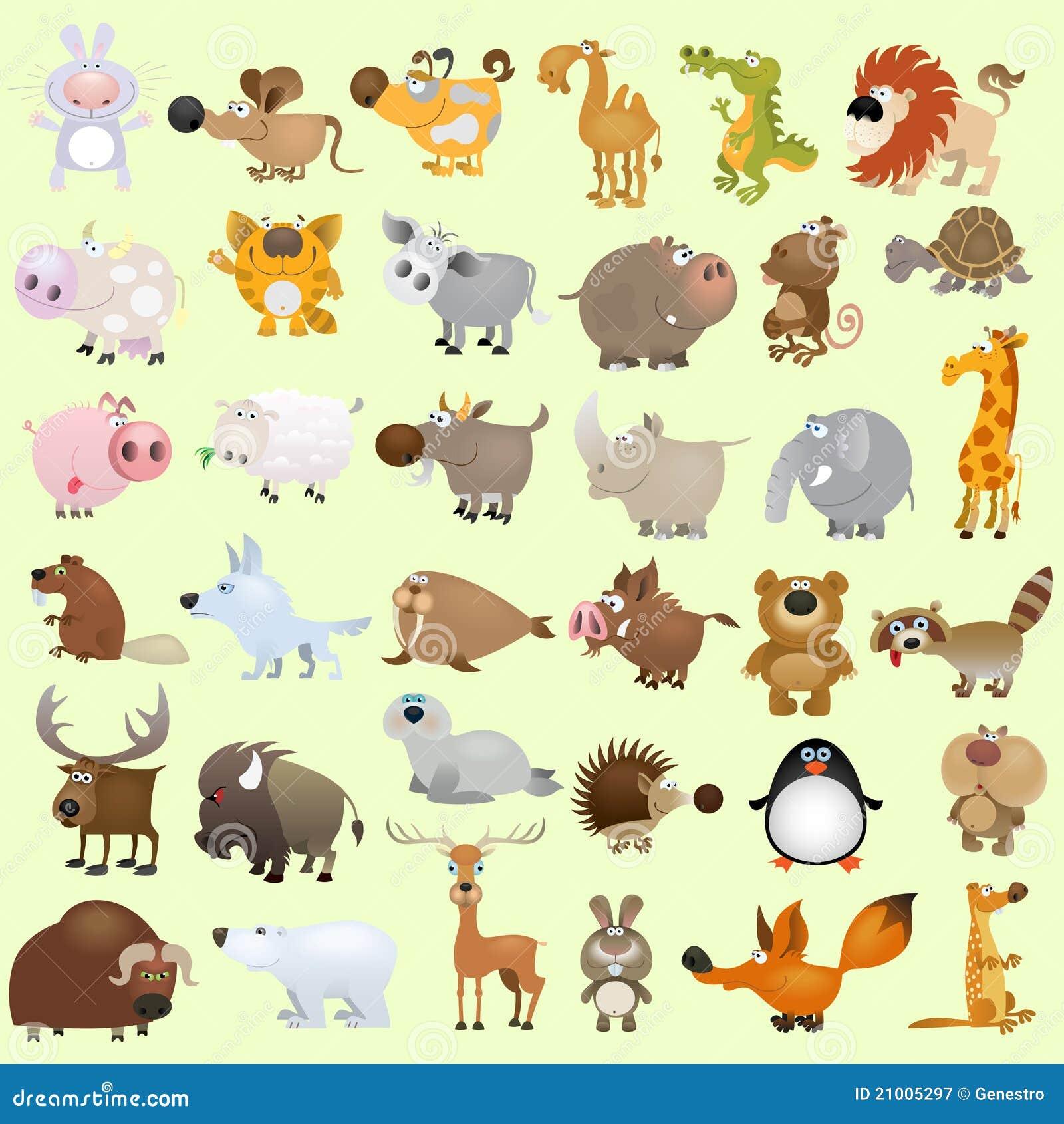 Grote beeldverhaal dierlijke reeks