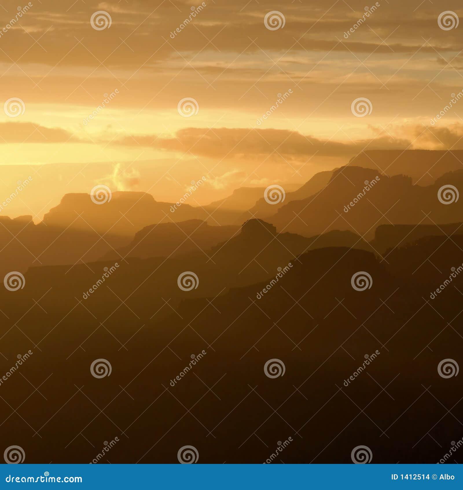 Grote Canion bij zonsondergang