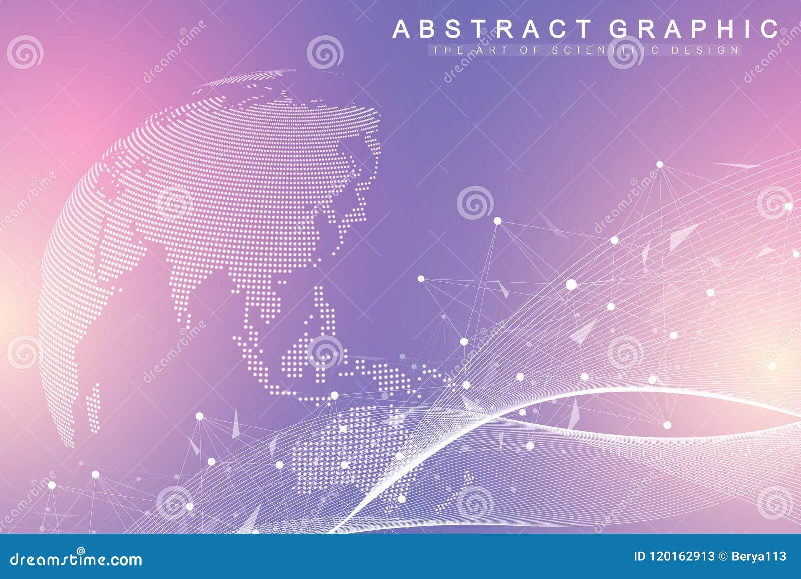 Grote gegevensvisualisatie Grafische abstracte mededeling als achtergrond Perspectiefachtergrond Minimale serie Digitale gegevens
