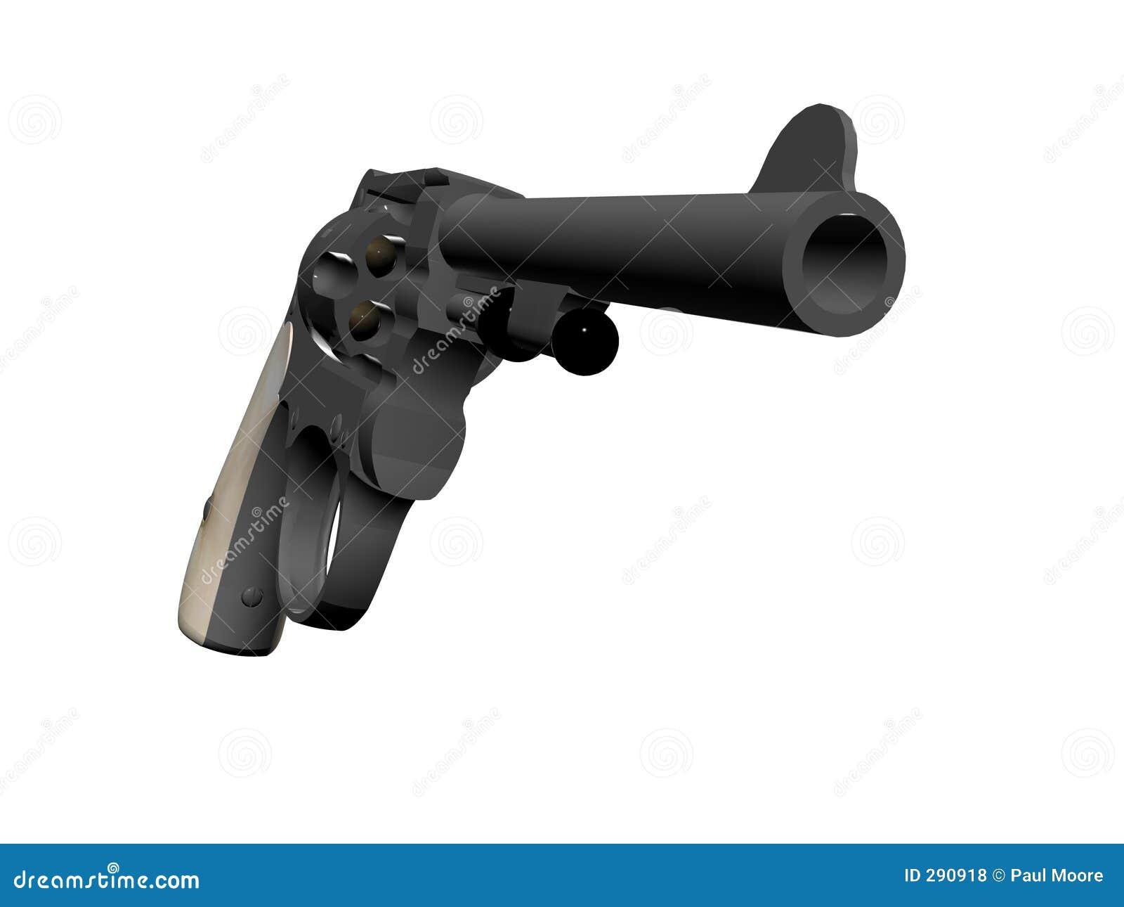 Grote het pistool droeg