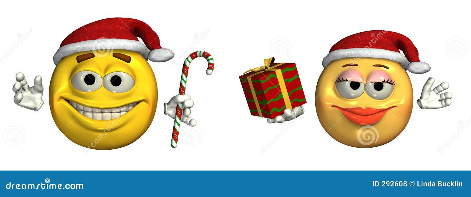 Grote Kerstmis Emoticons - omvat het knippen weg
