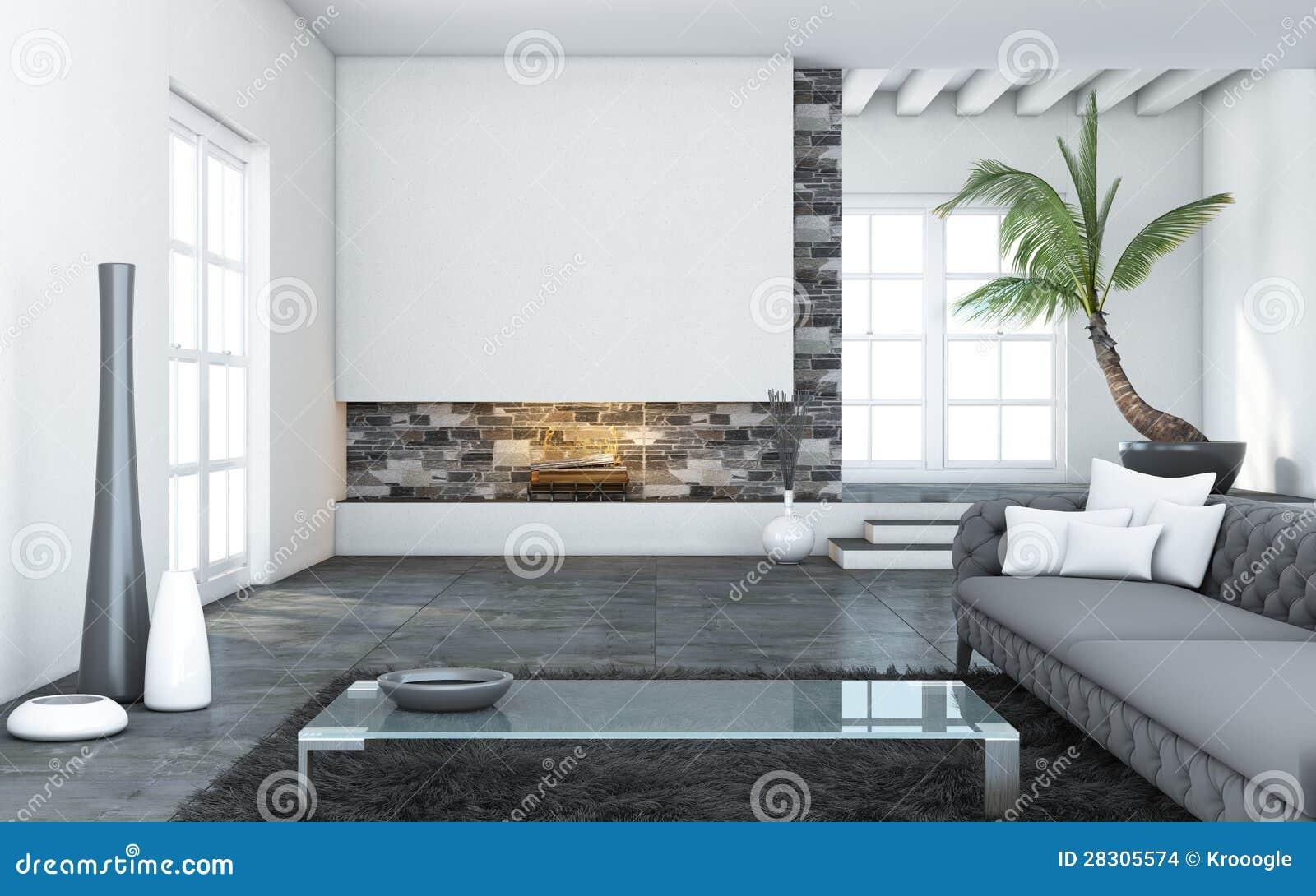 Grote moderne woonkamer stock afbeeldingen afbeelding for Woonkamer design