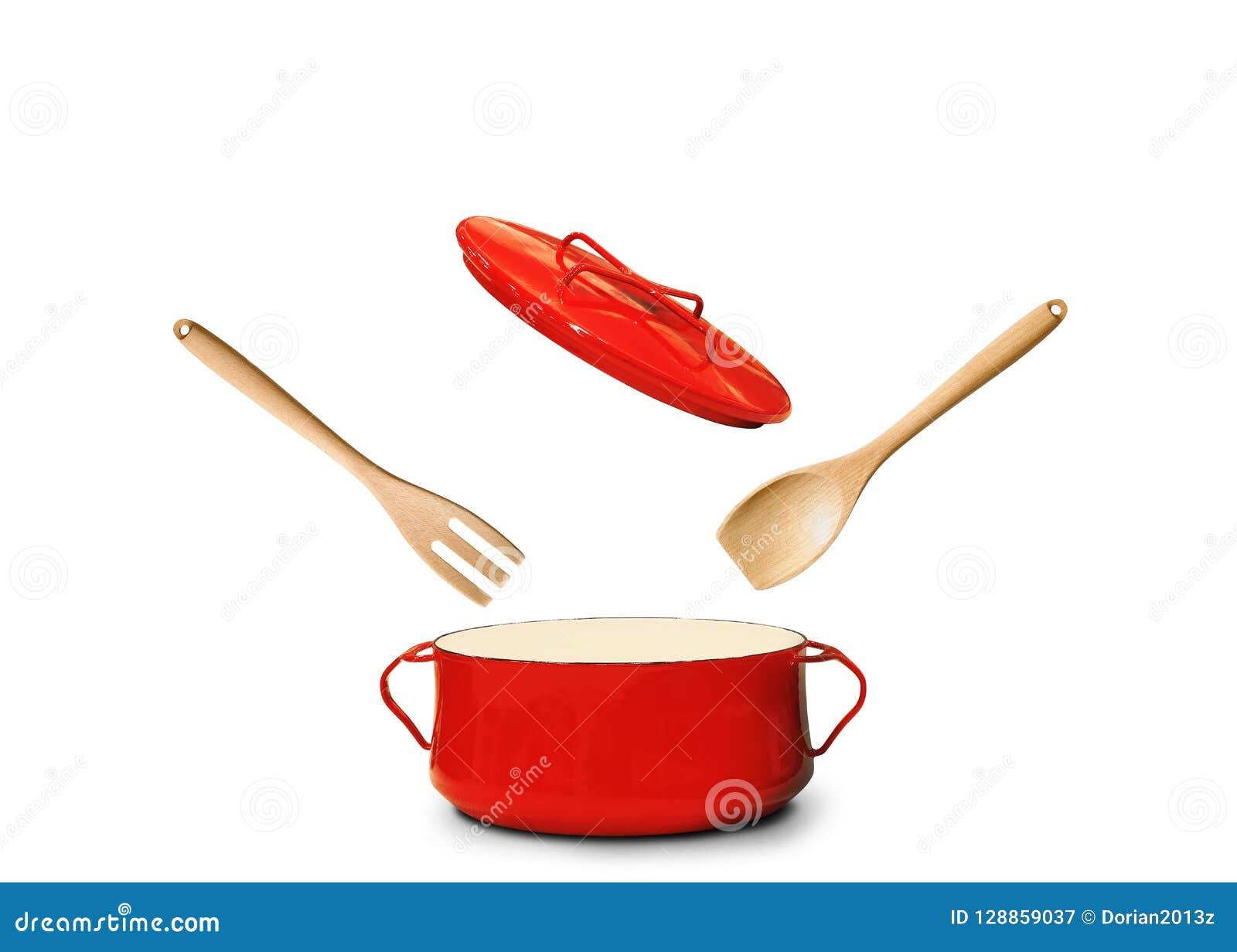 Grote rode pot voor soep
