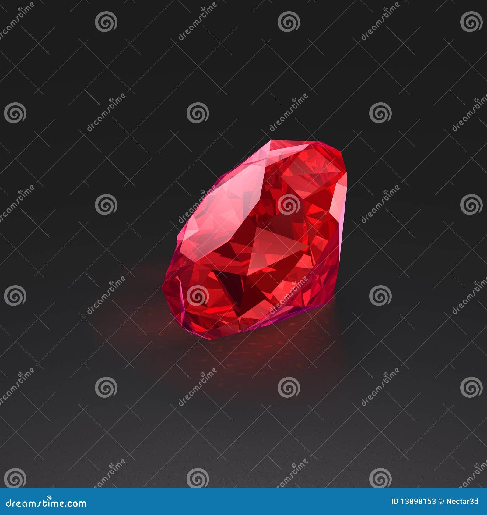 Grote rode robijn
