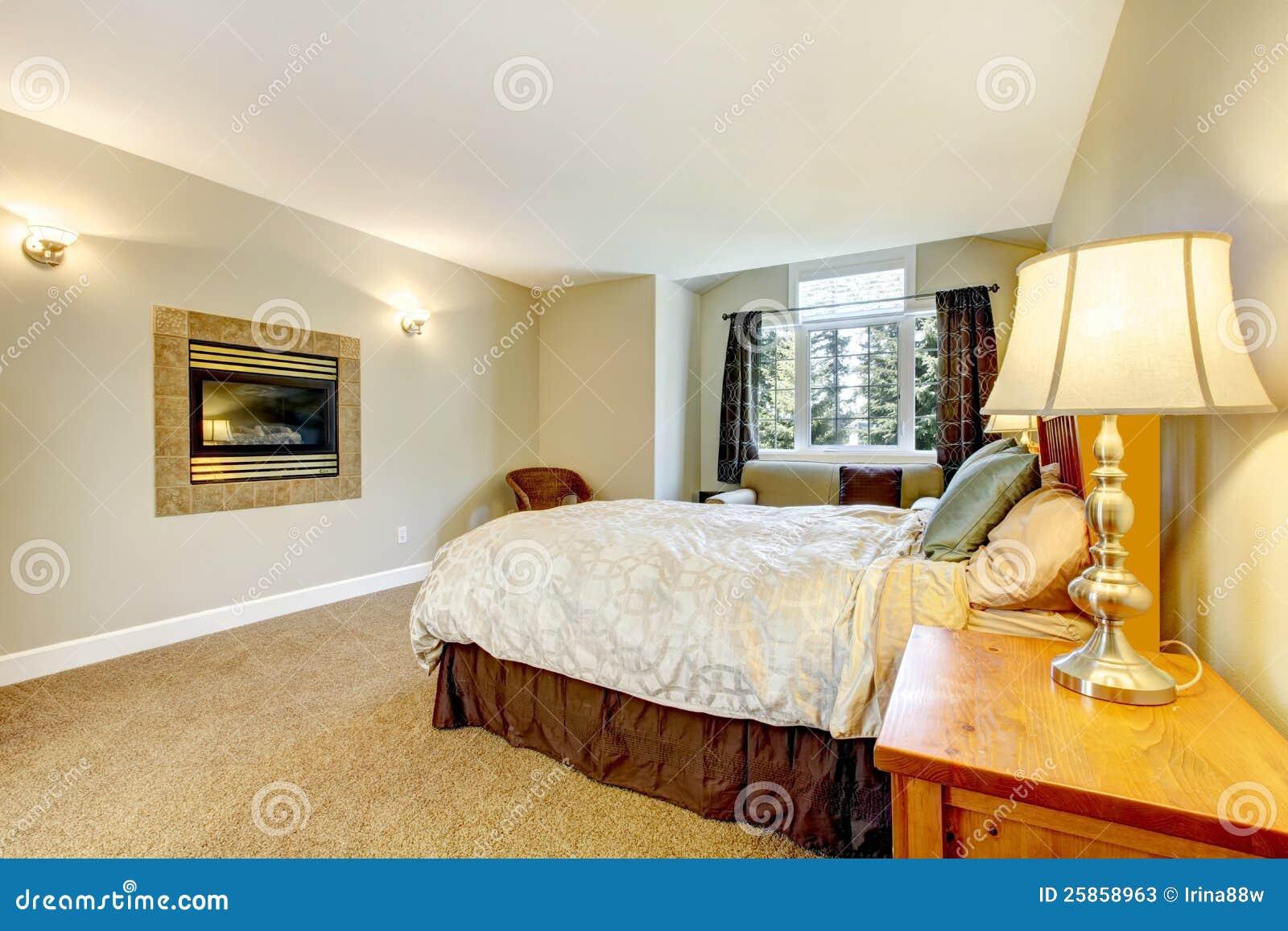 Slaapkamer Met Openhaard : Grote slaapkamer met open haard stock photos 36 images