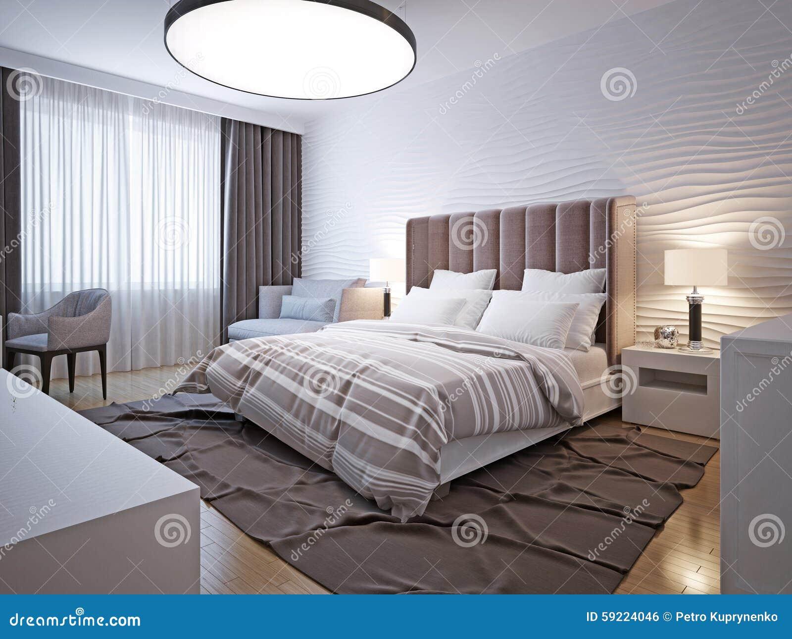 Grote slaapkamer moderne stijl stock foto afbeelding 59224046 - Slaapkamer stijl ...