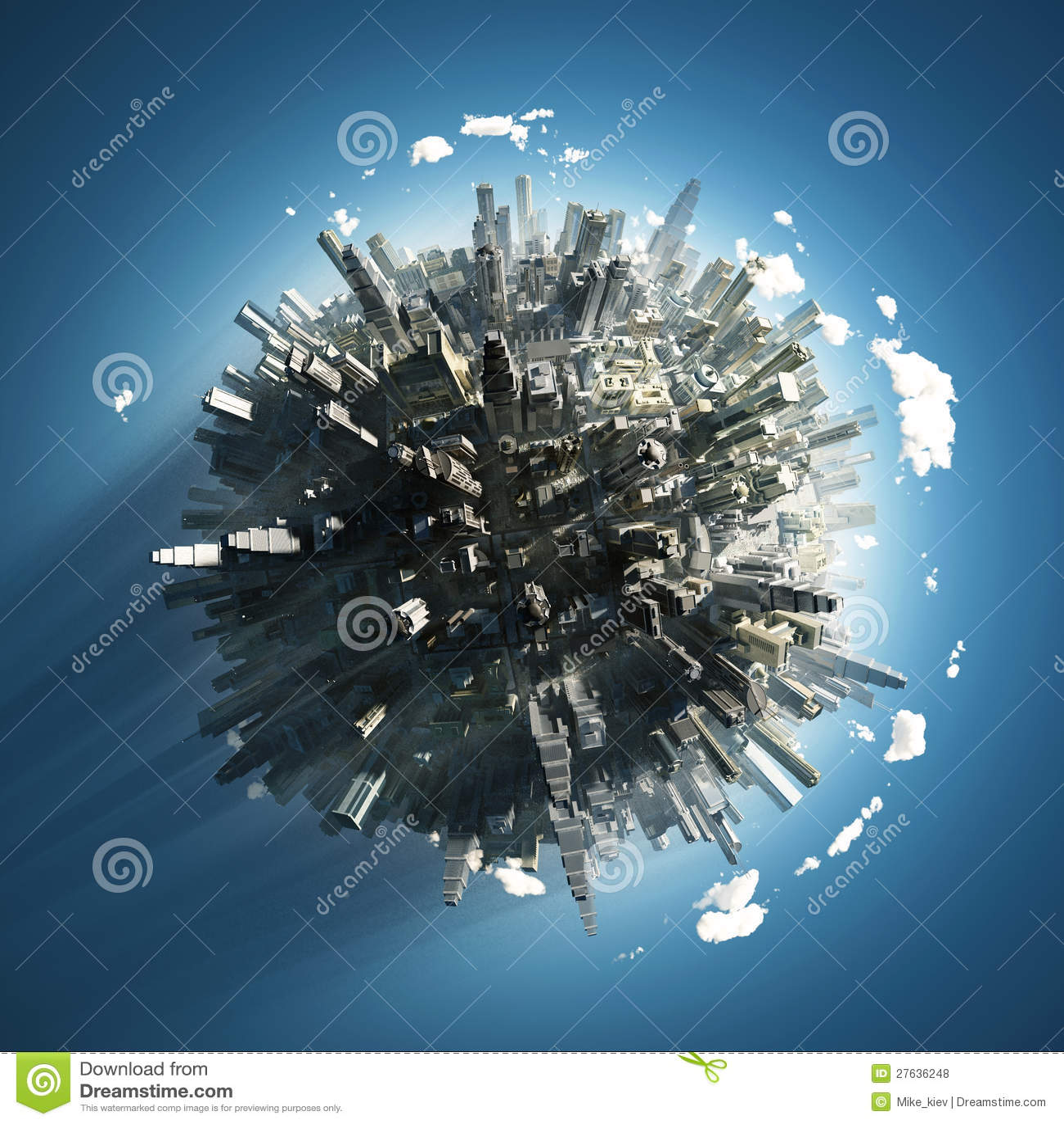 Grote stad op kleine planeet
