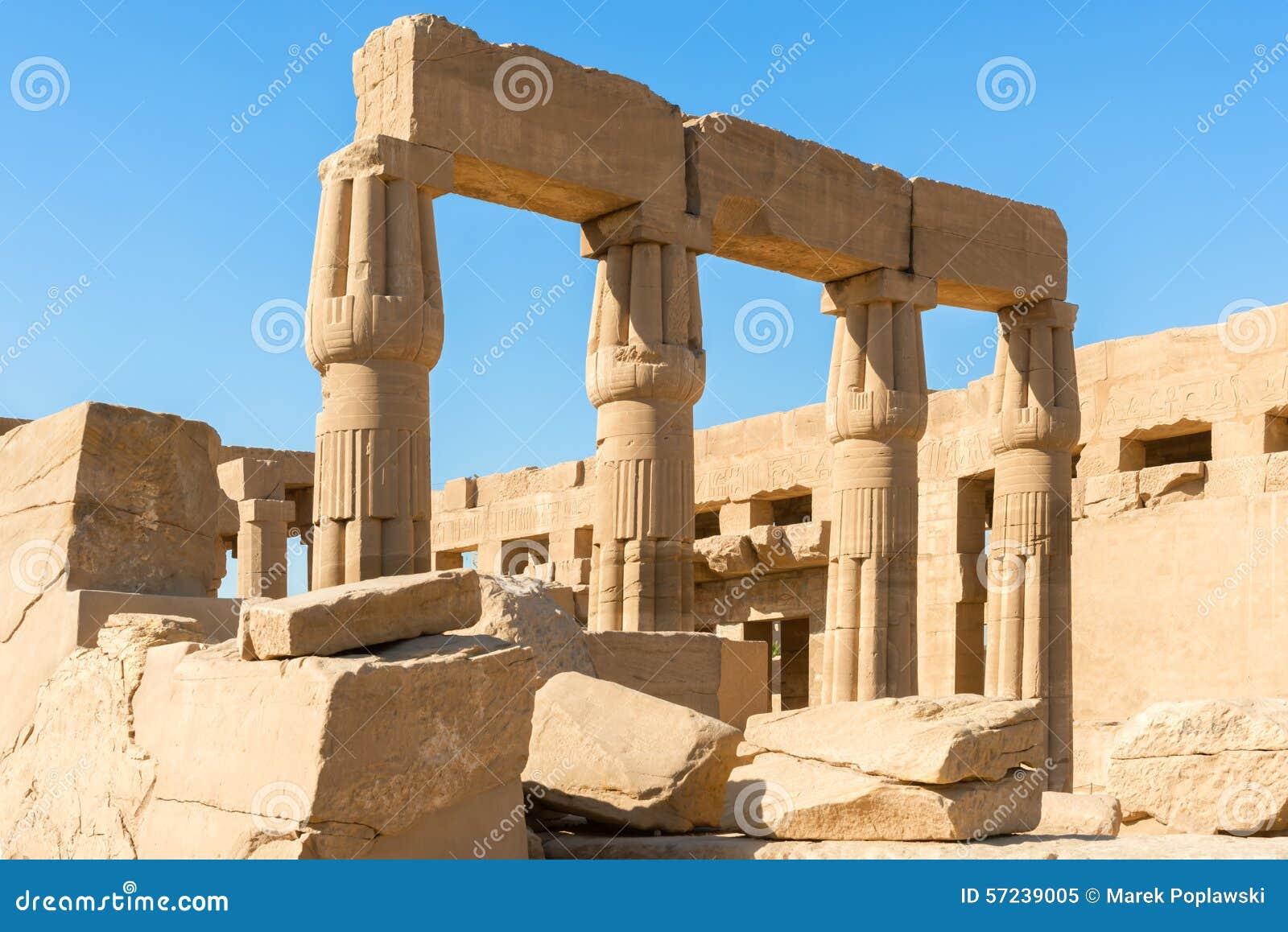 Grote Tempel van Amun in Karnak Luxor Egypte