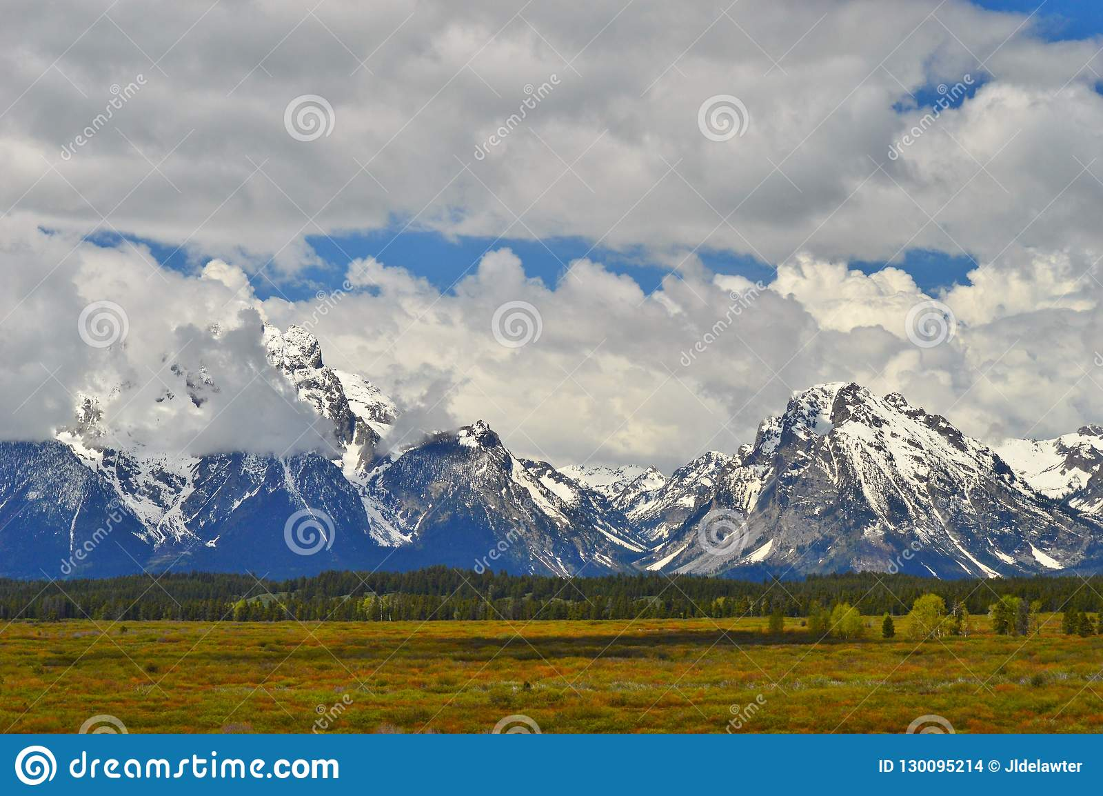 Grote Tetons in Wyoming