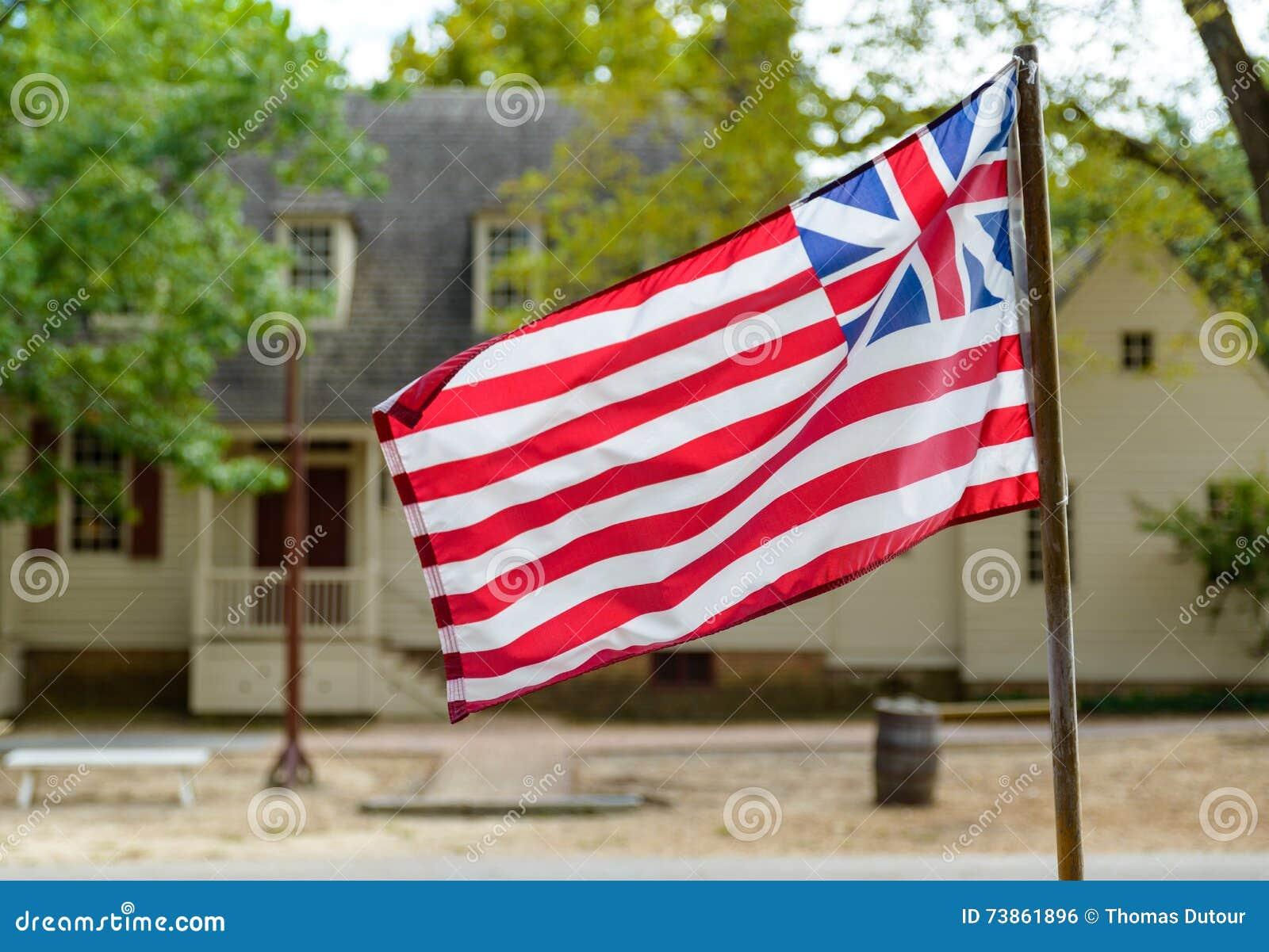 Grote Unie Vlag in Williamsburg, VA