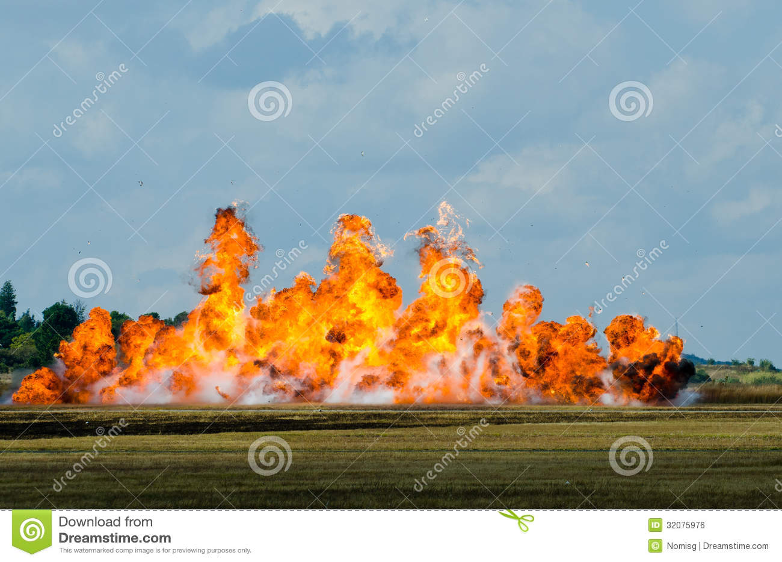 Grote vlamexplosie