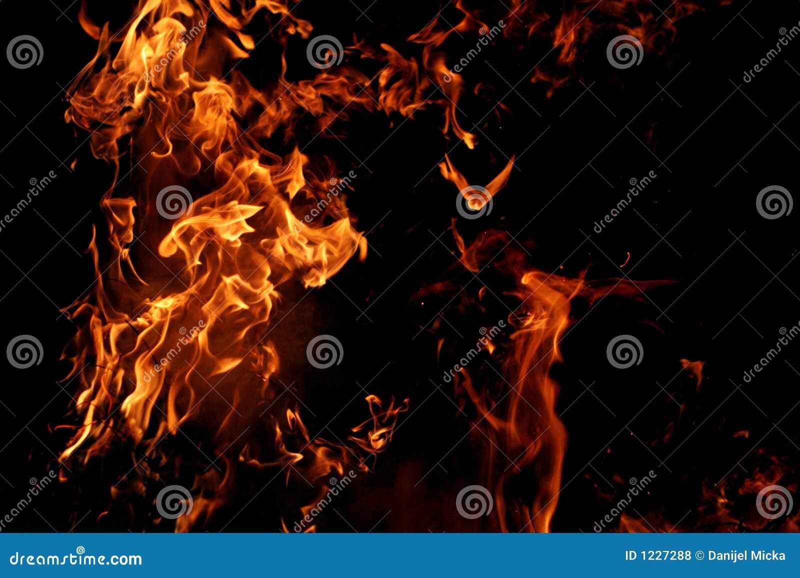 Grote vlammen
