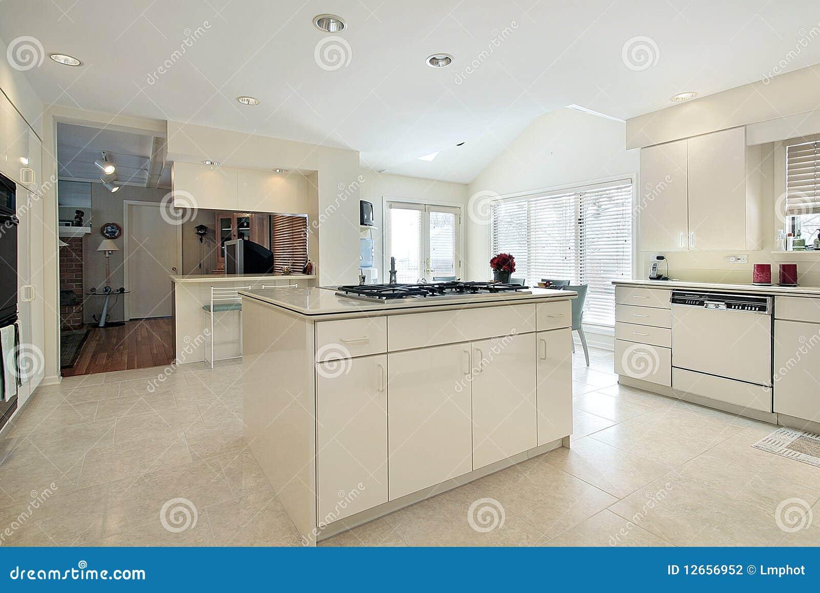 Grote witte keuken stock foto afbeelding bestaande uit landgoed 12656952 for Foto witte keuken