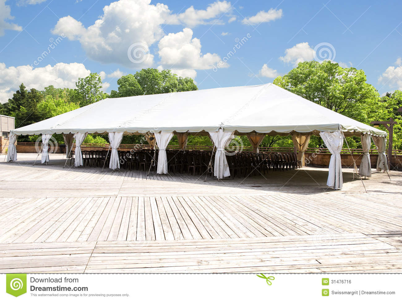 Grote witte tent