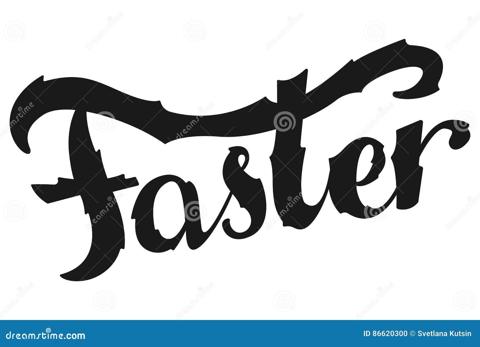 Groter, Sneller, Sterker Het Inspirational sport zeggen Retro Etiket met Kalligrafische Elementen