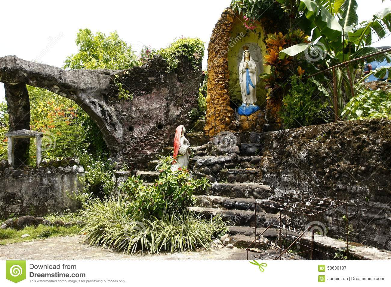 Grotto Of Virgin Mary In Moog Of Bulusan Or Forts Of