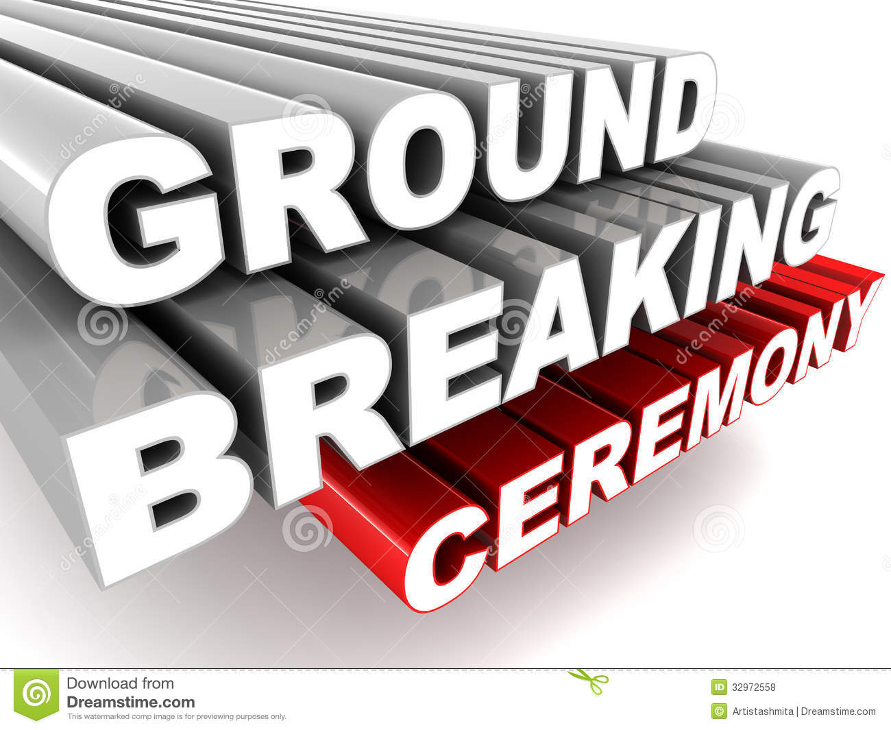 Ground Breaking Ceremony Royalty Free Stock Photos Image