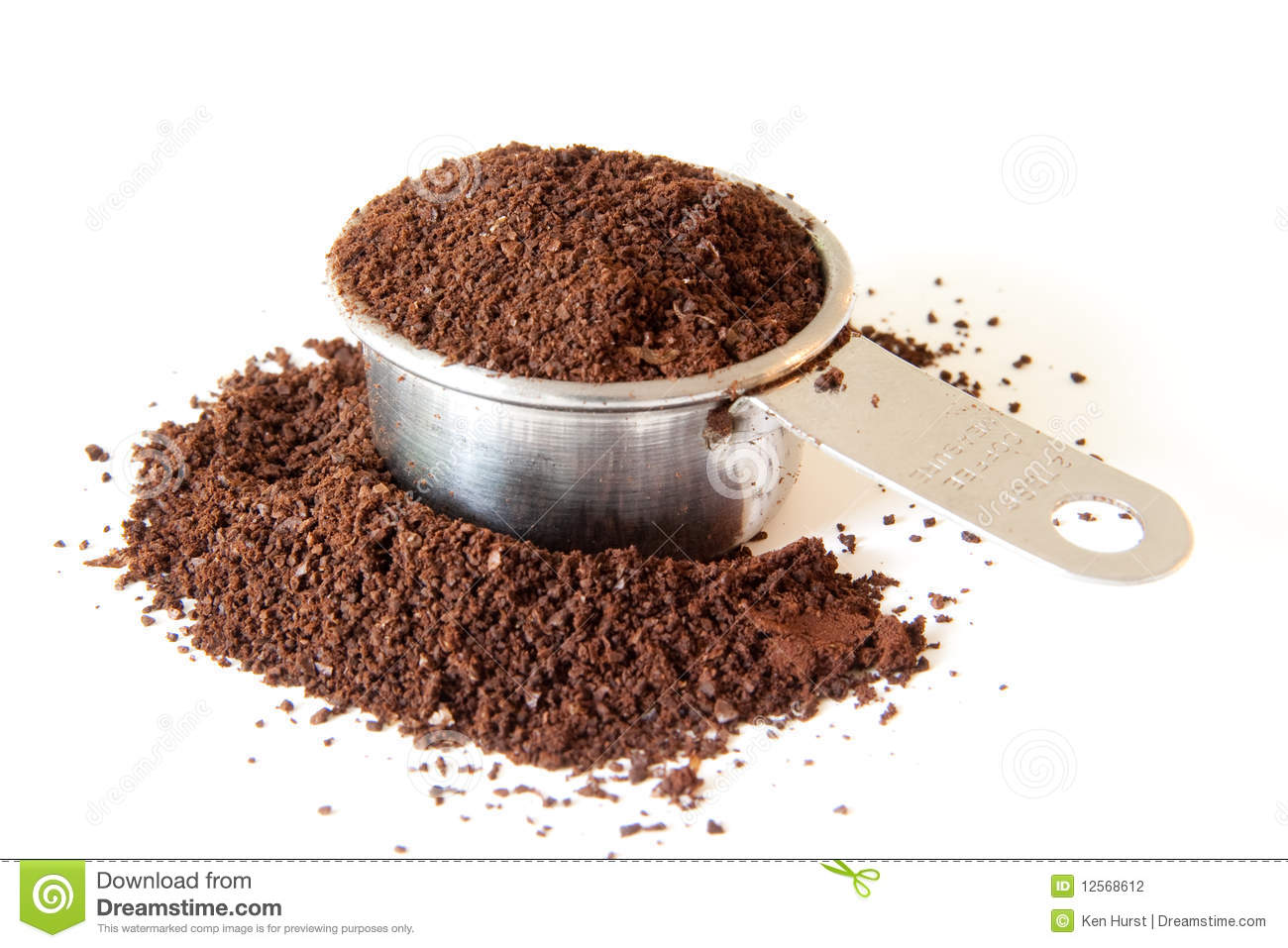 Ground Coffee In Measuring Cup Stock Photo - Image of ...