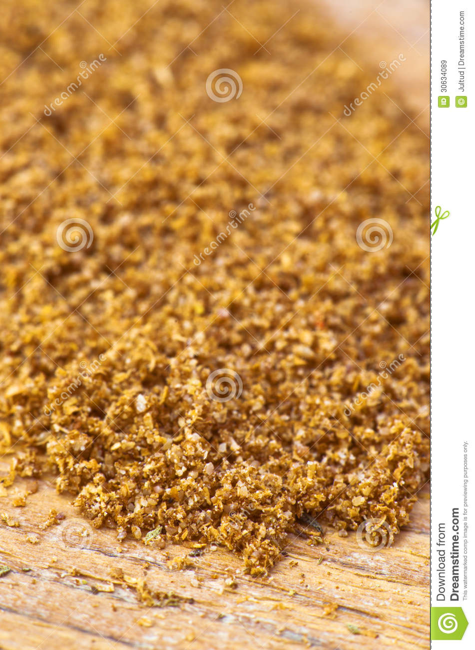Ground Coriander Making Approach Royalty Free Stock Images