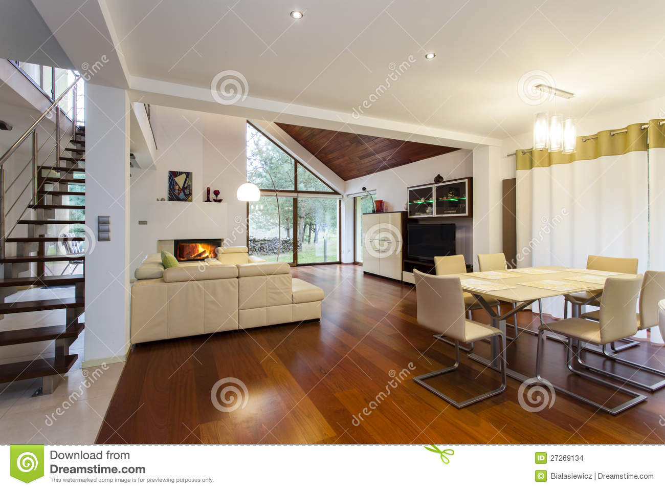 Ground floor of modern house stock images image 27269134 for Modern house design ground floor only