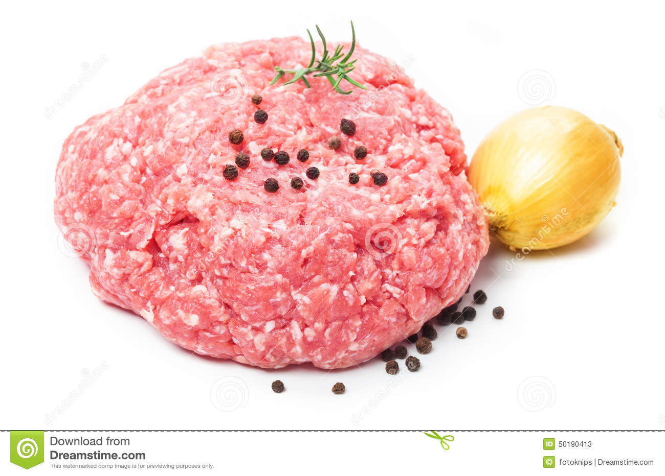 Ground Pork, Minced Meat Stock Photo - Image: 50190413