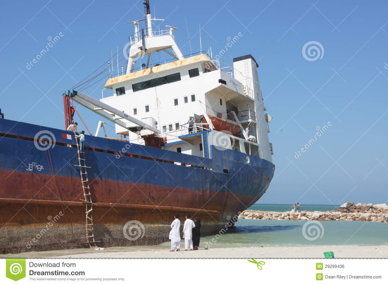 Grounded Cargo Ship Accident Editorial Photo - Image of