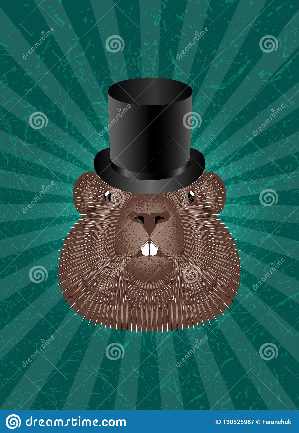 Groundhog Day  Concept National Holiday In USA And Canada