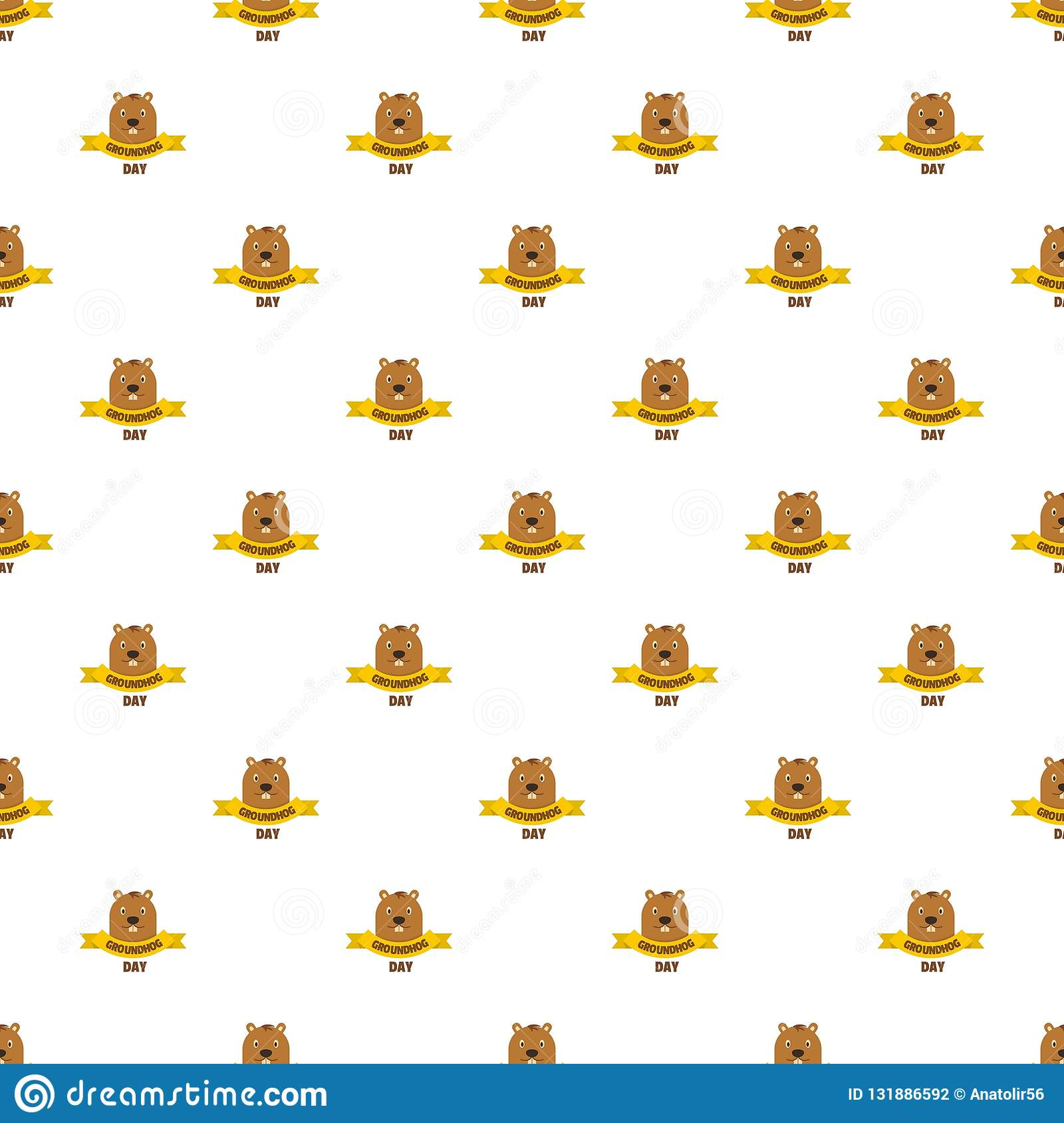Groundhog day pattern seamless vector