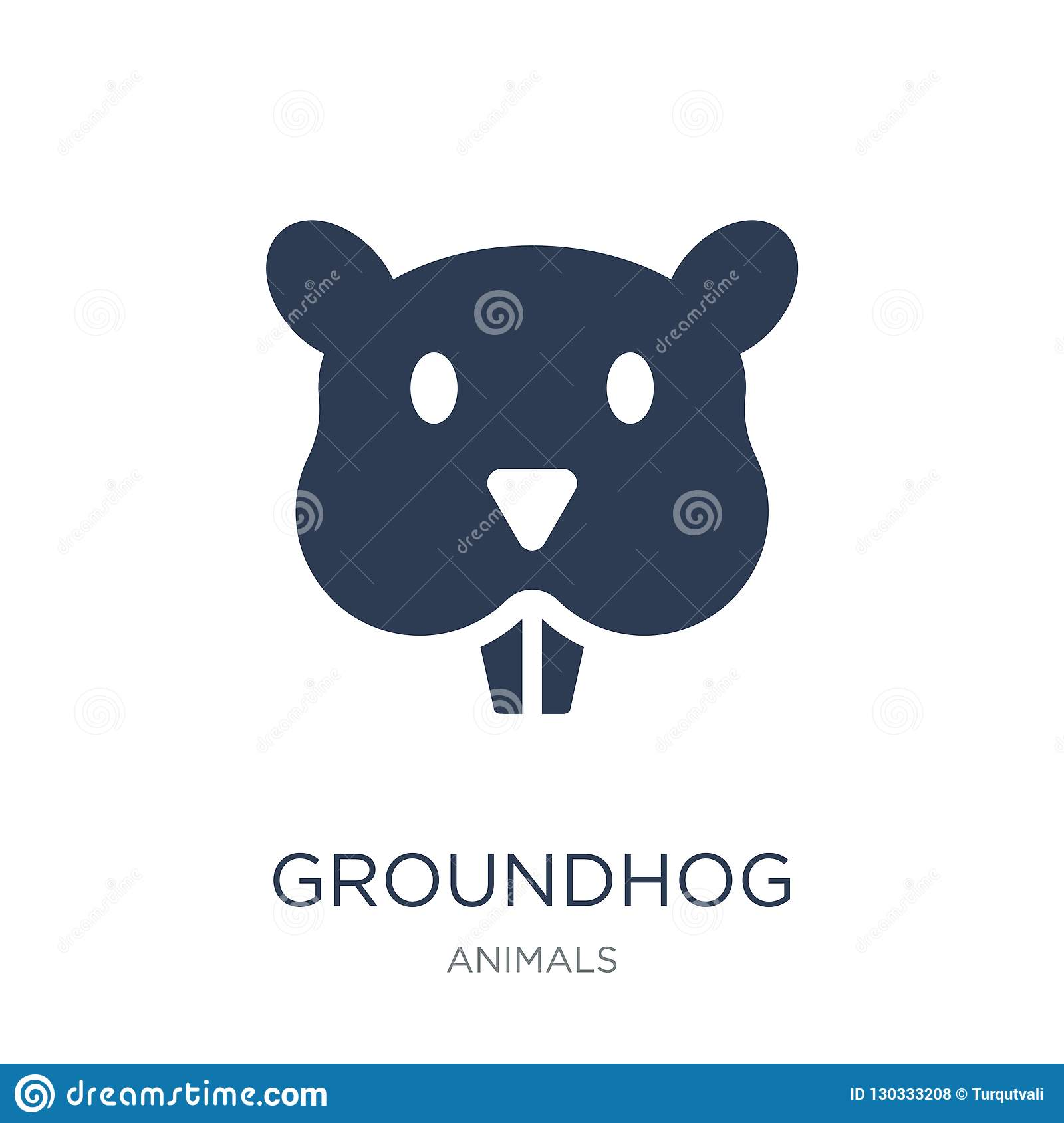 Groundhog icon. Trendy flat vector Groundhog icon on white background from animals collection