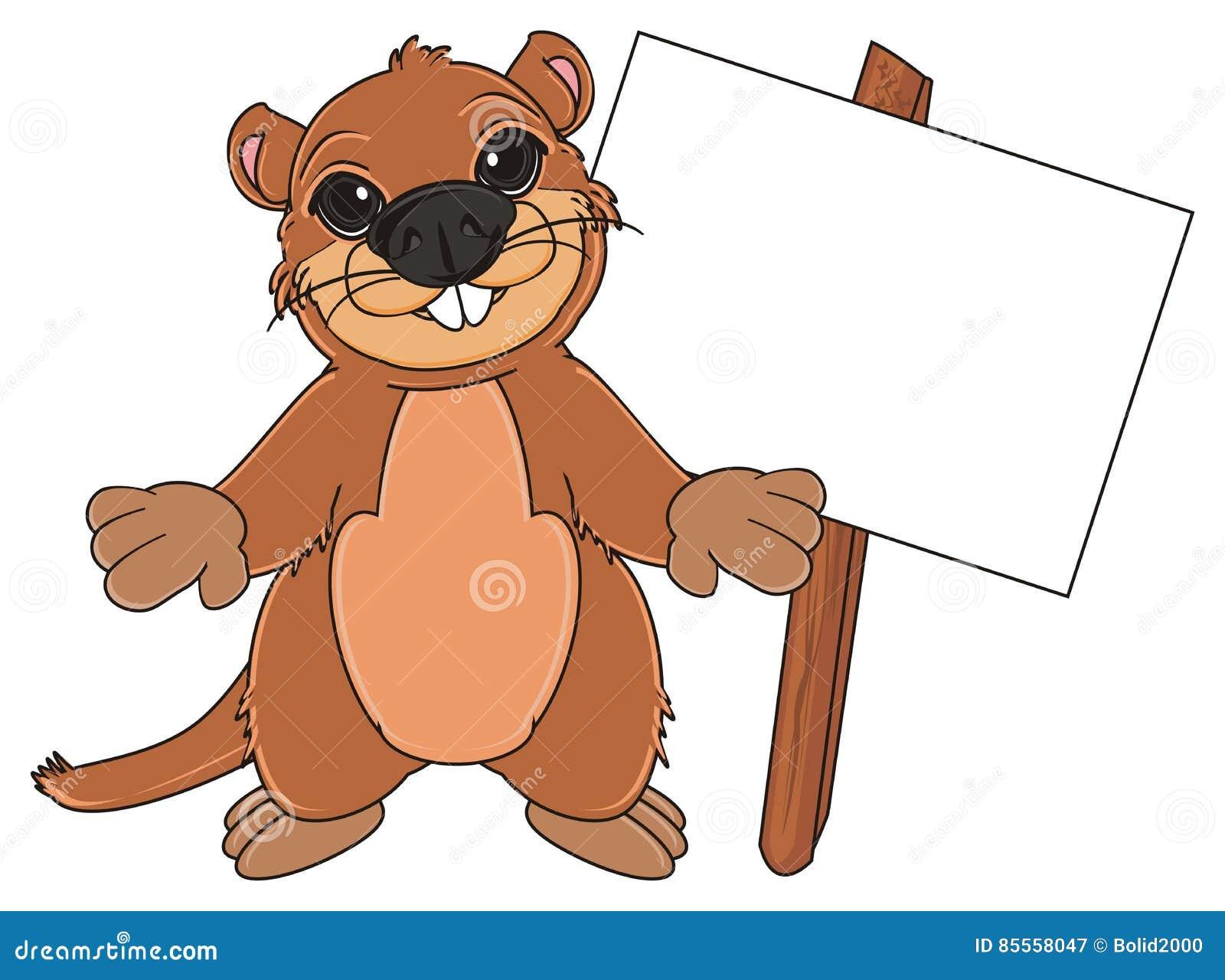 Groundhog und saubere Platte