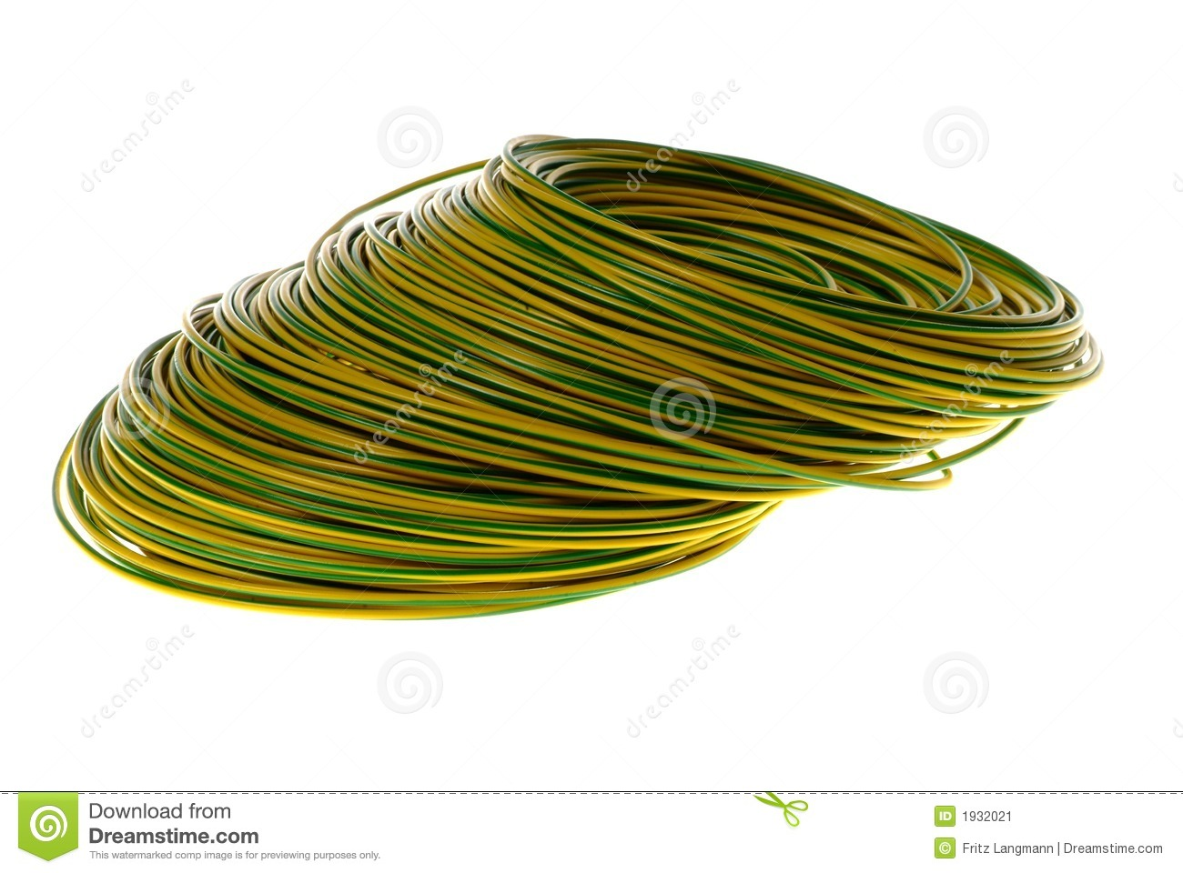 Electrical Grounding Cable : Grounding cable stock image