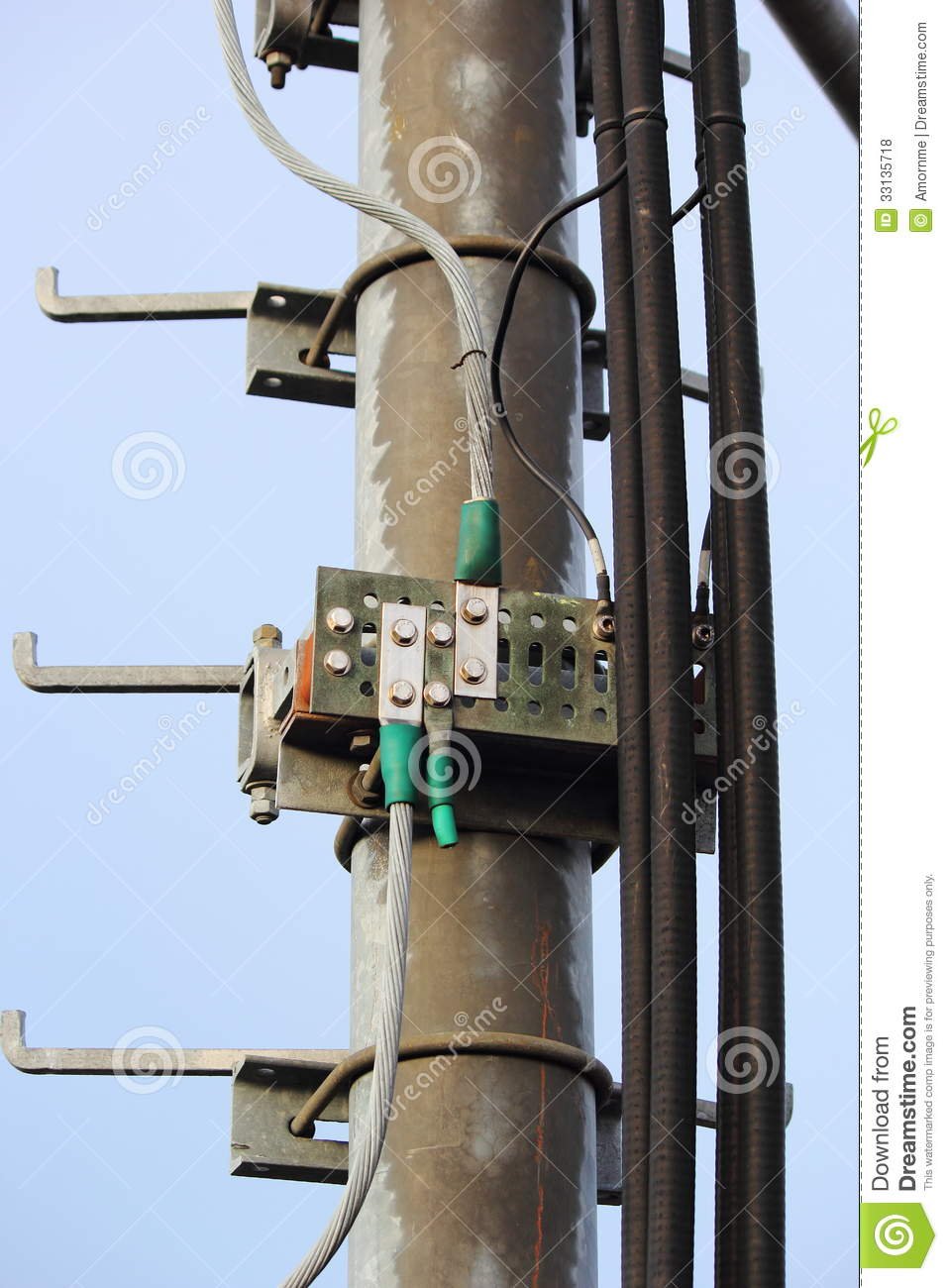 Grounding Point Poles. Royalty Free Stock Photos - Image ...