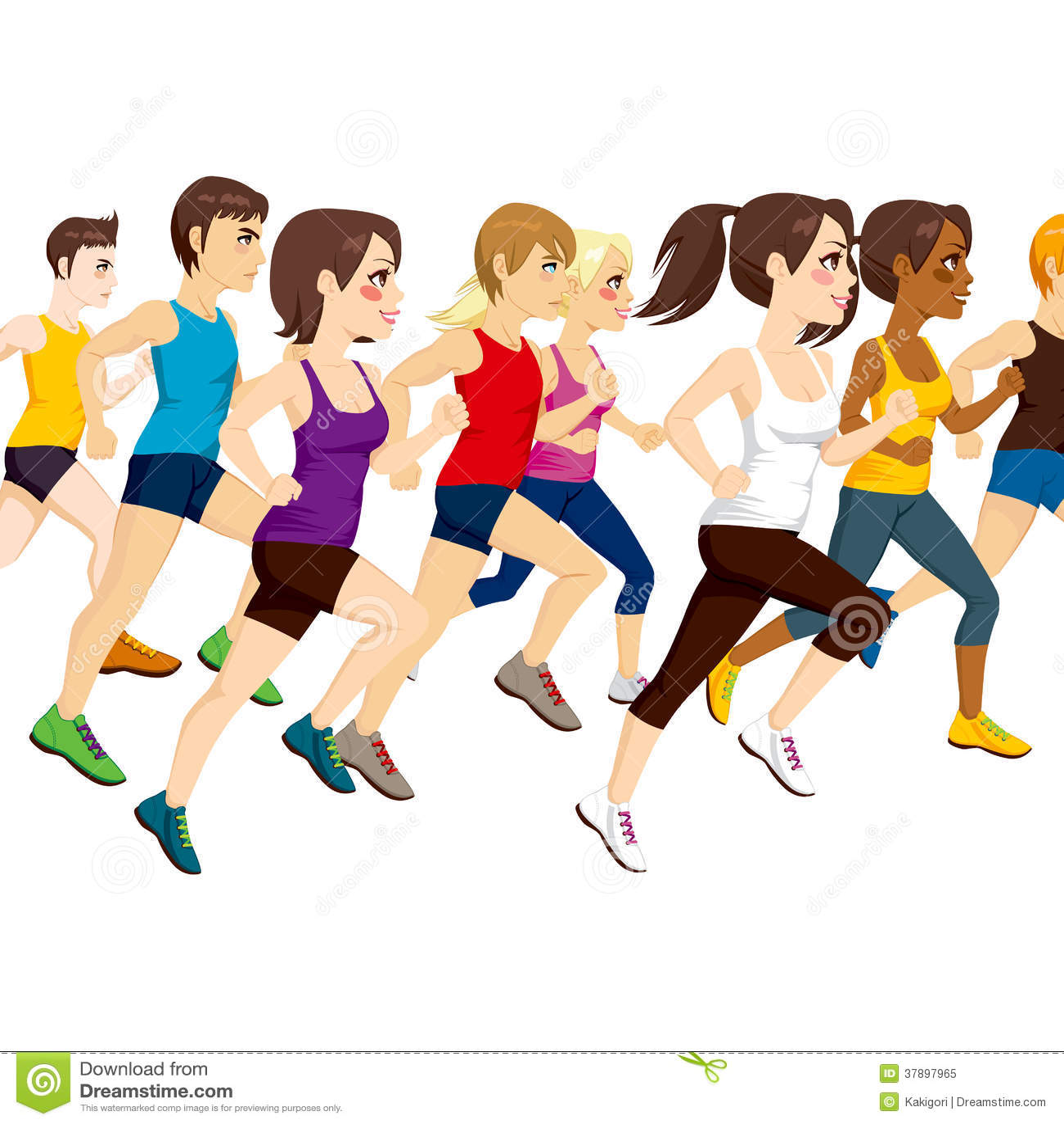Group Of Athletes Running Royalty Free Stock Photo - Image: 37897965
