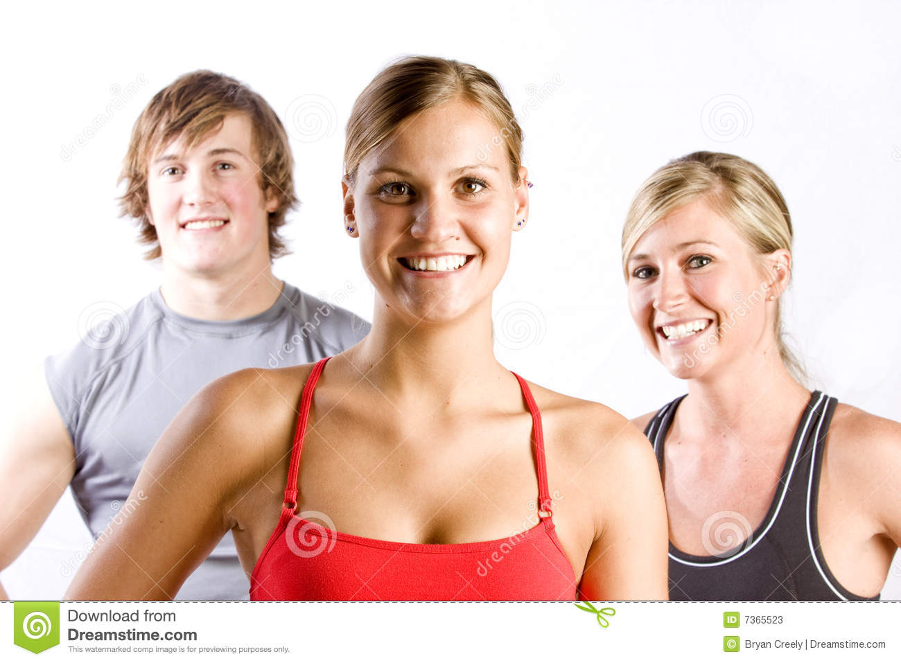 Group of athletic friends