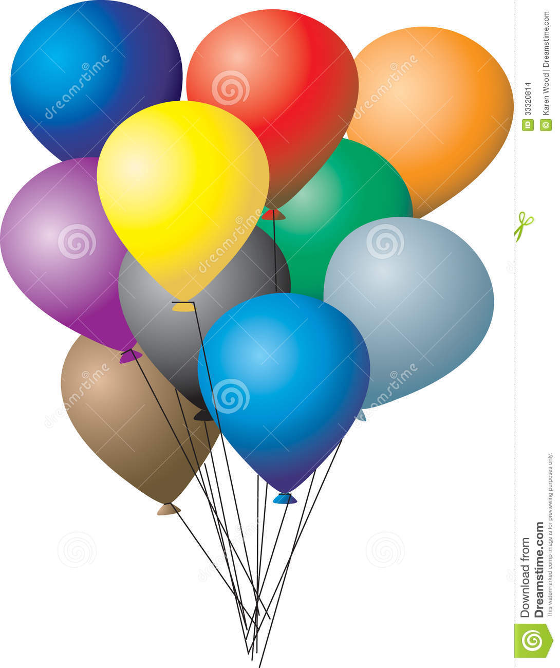 group of balloons stock images image 33320814 clip art hot air balloon numbers clipart hot air balloon light bulb