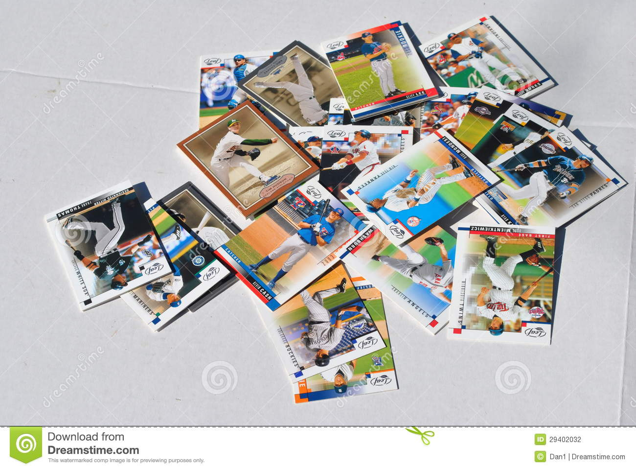 Group Of Baseball Cards Editorial Photography Image Of