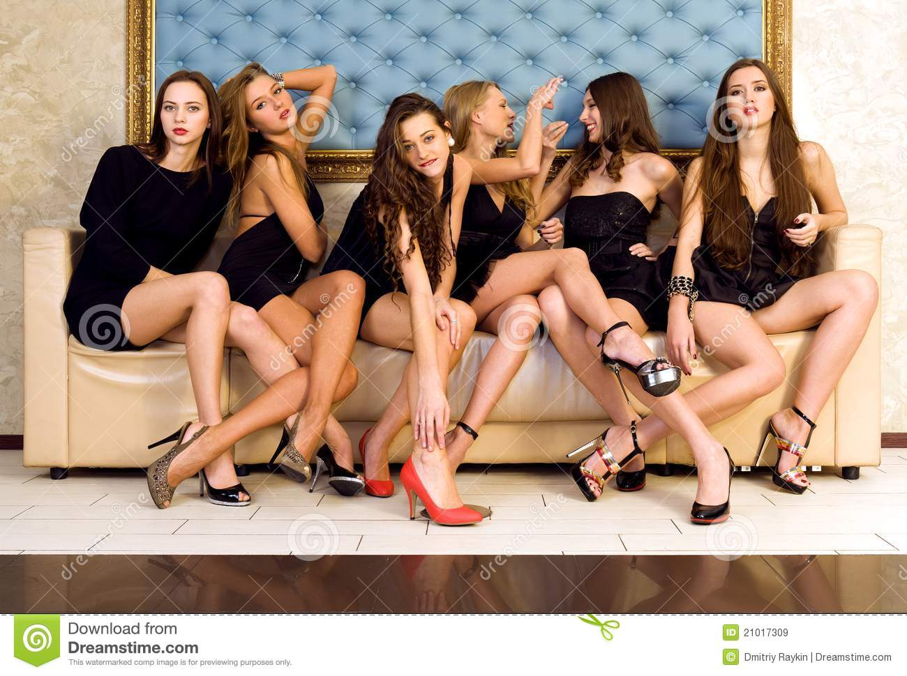 Group of beautiful models
