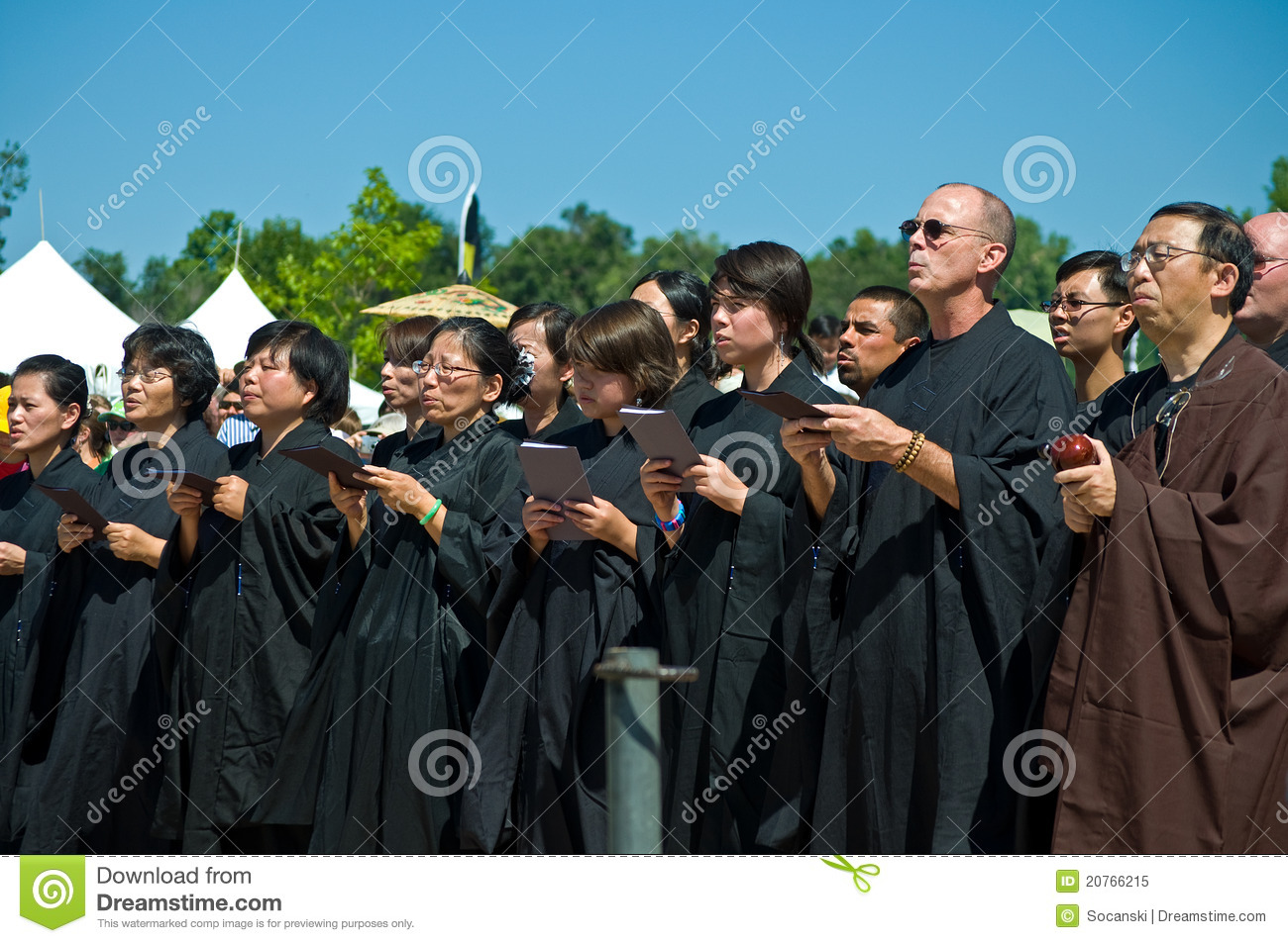 Group of Buddhist priests