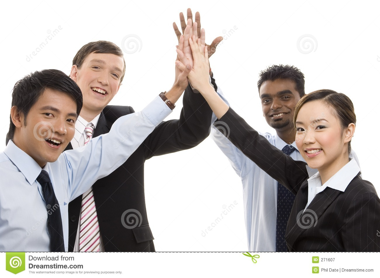 Group Business - High Five Royalty Free Stock Photography - Image ...
