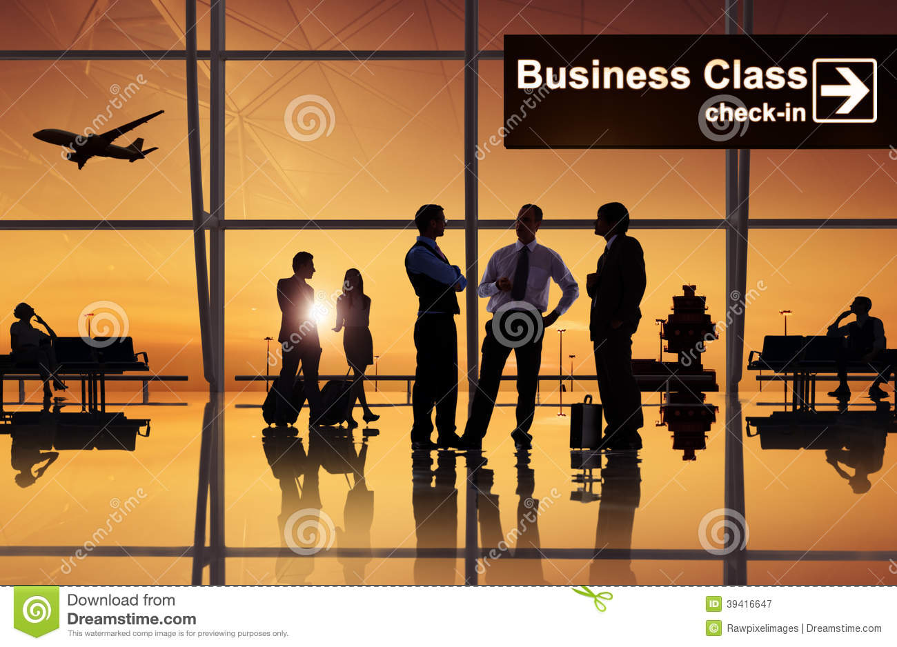 Free Images Traveling People Airport Bridge Business: Group Of Business People In The Airport Stock Image