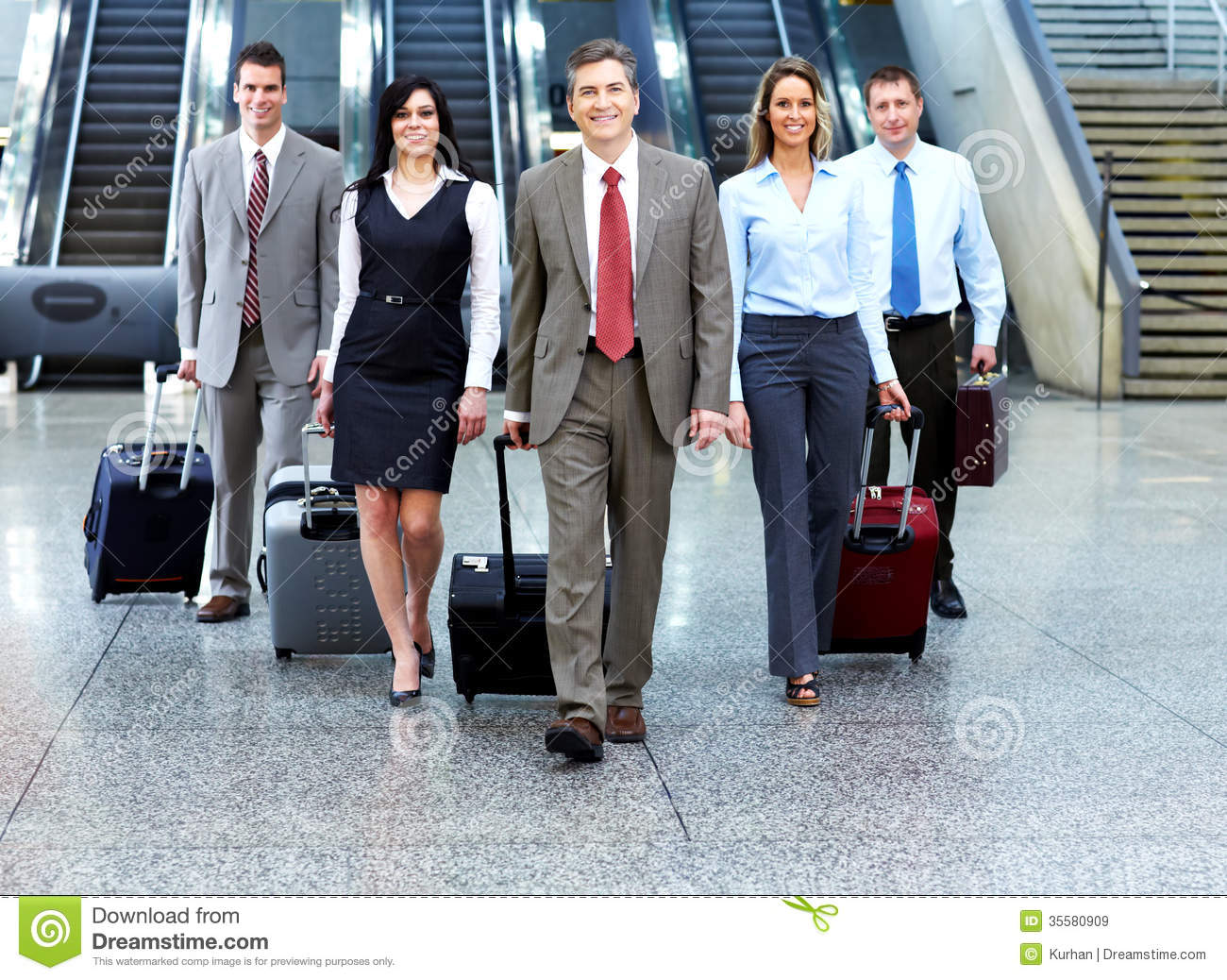 Free Images Traveling People Airport Bridge Business: Group Of Business People In Airport. Stock Image